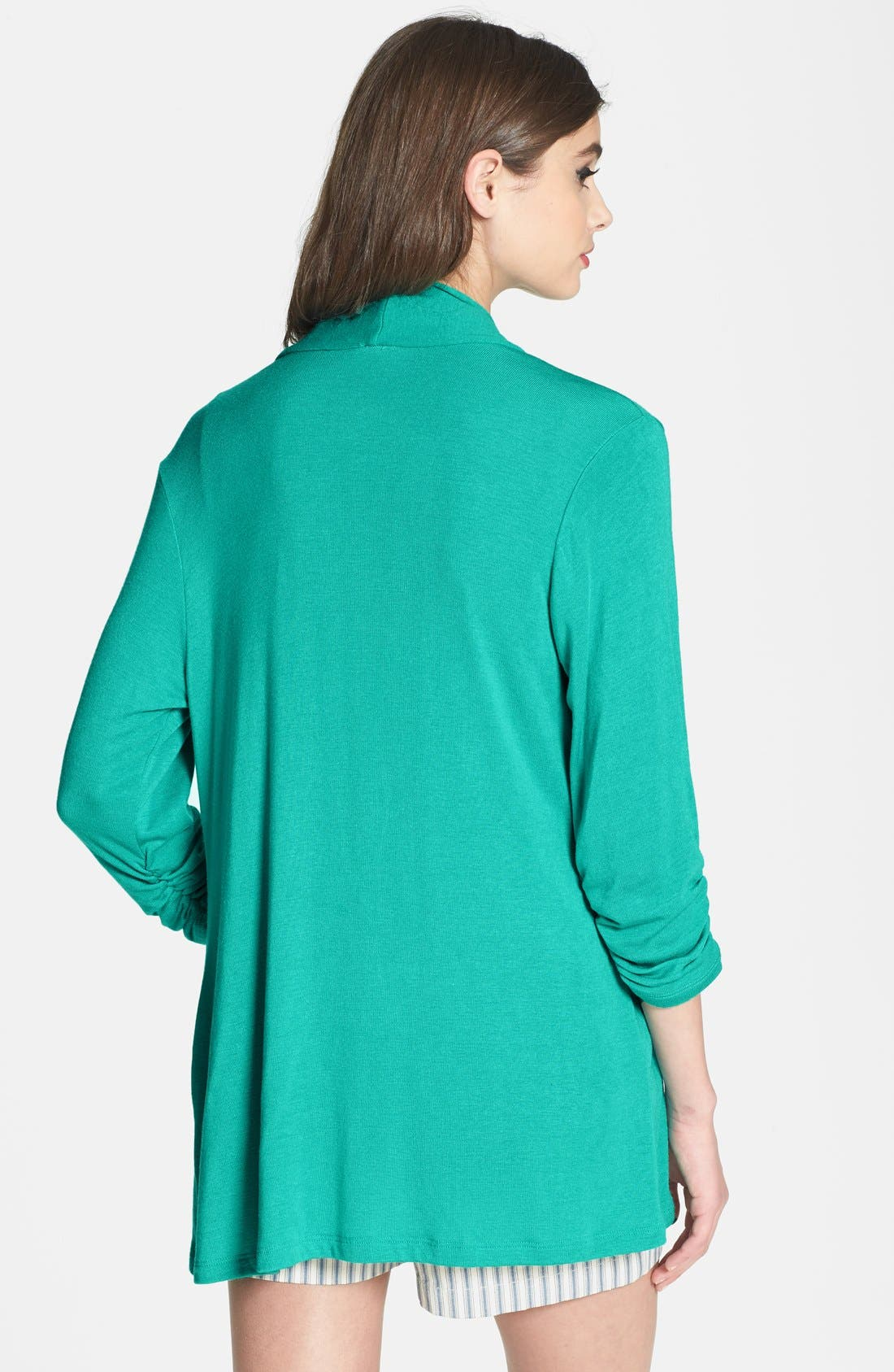 Alternate Image 2  - MOD.lusive Ruched Sleeve Long Cardigan (Nordstrom Exclusive)
