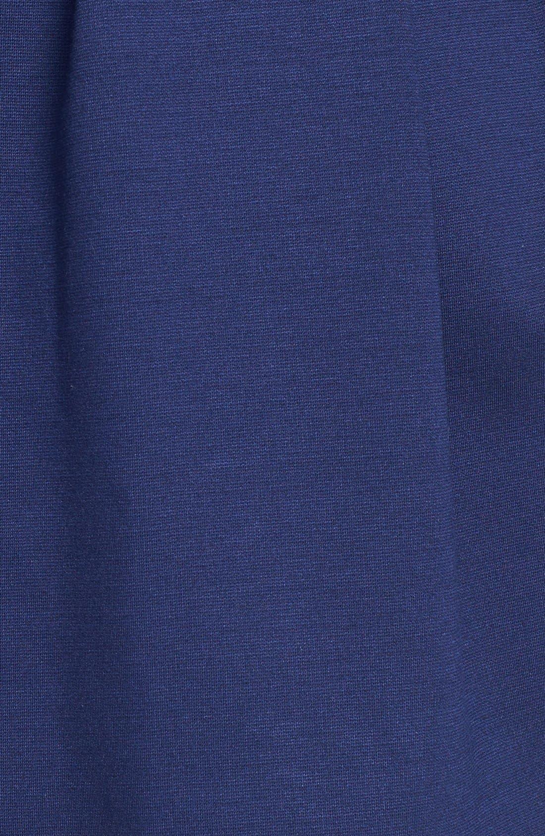 Alternate Image 4  - Black Swan Cap Sleeve Ponte Knit Fit & Flare Dress