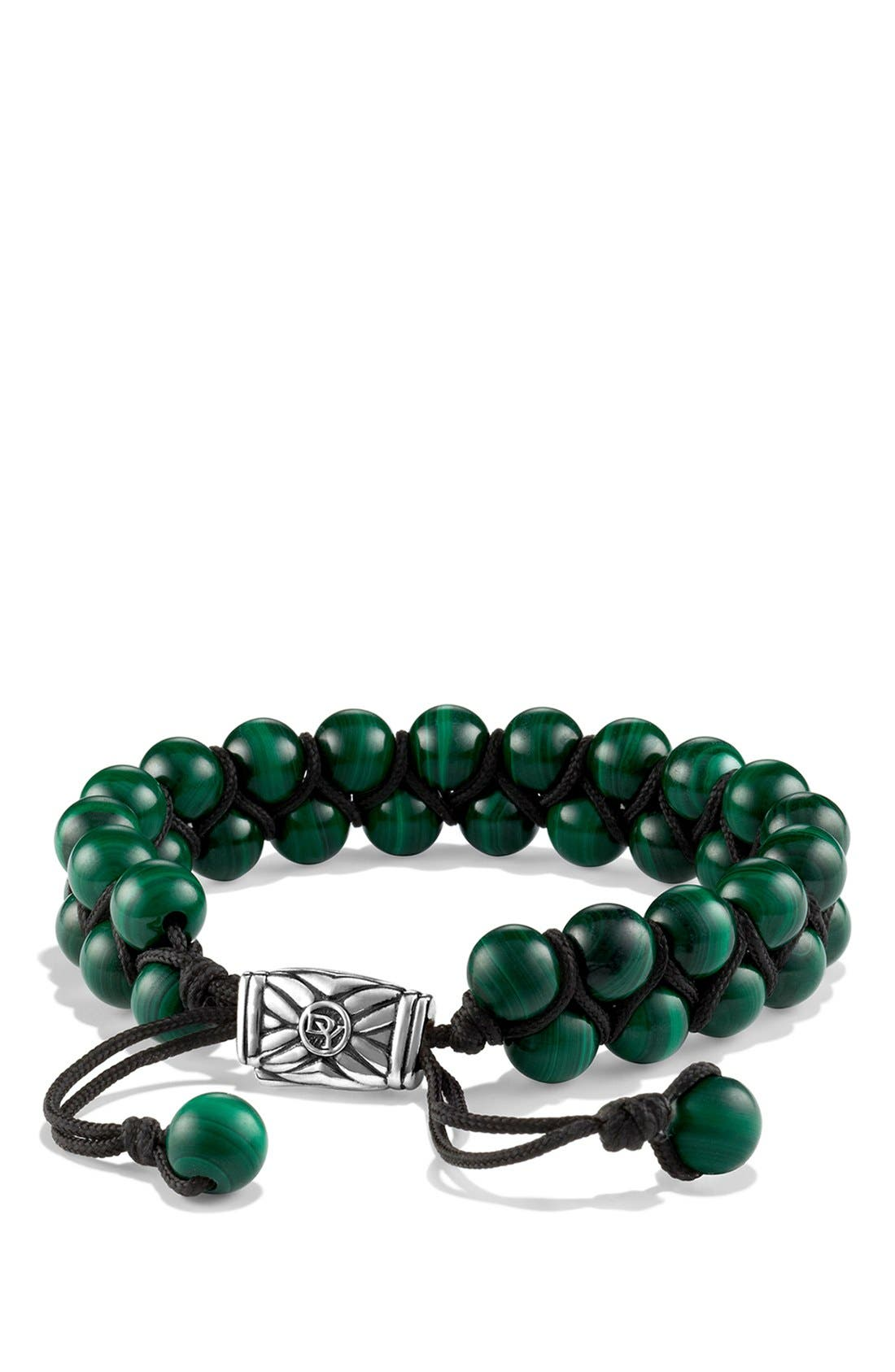 Alternate Image 1 Selected - David Yurman 'Spiritual Beads' Two-Row Bracelet with Malachite