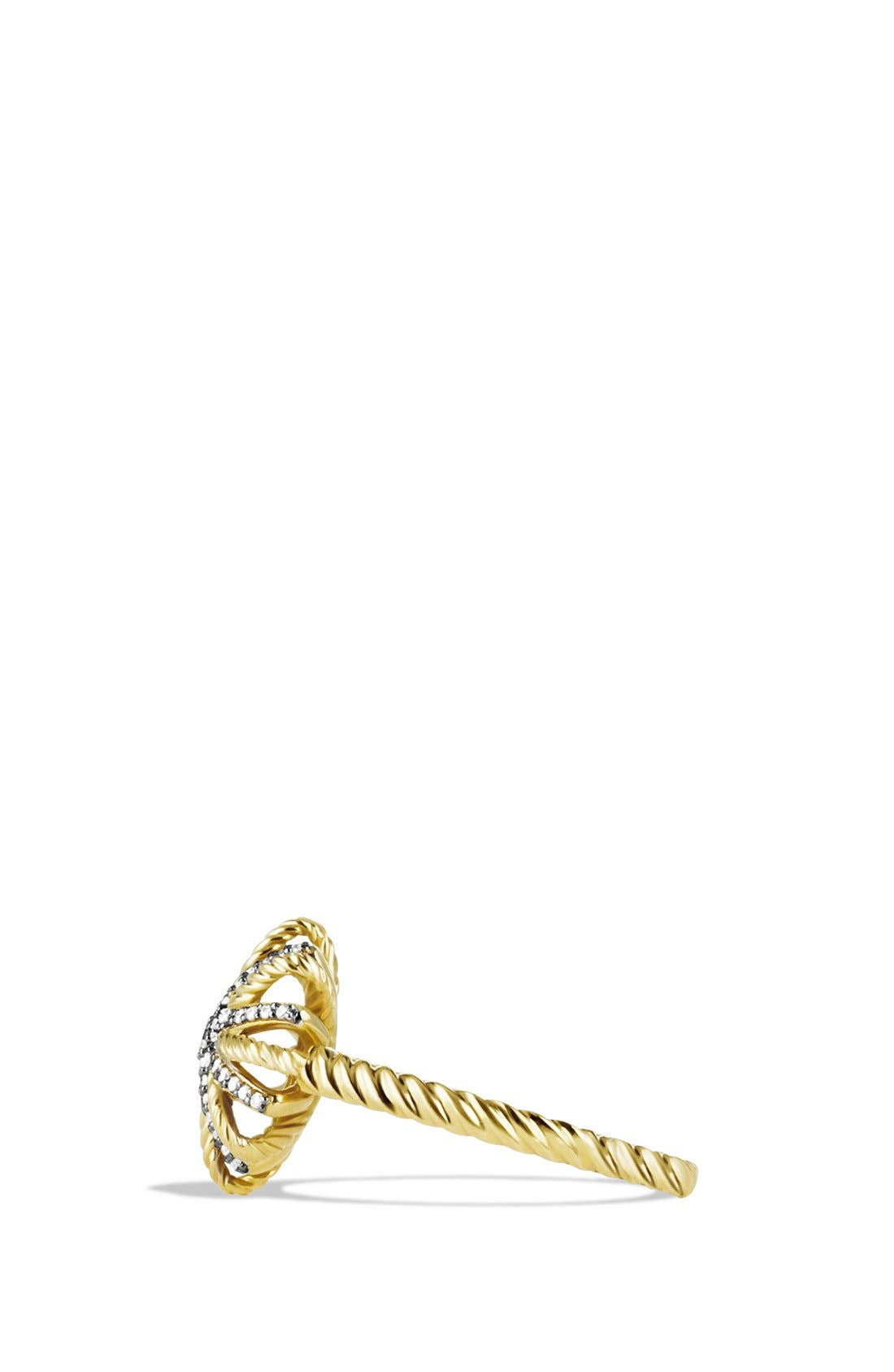 Alternate Image 2  - David Yurman 'Starburst' Ring with Diamonds in Gold