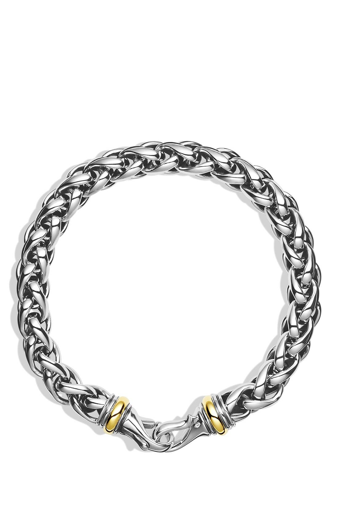 Alternate Image 2  - David Yurman 'Chain' Large Wheat Chain Bracelet with Gold
