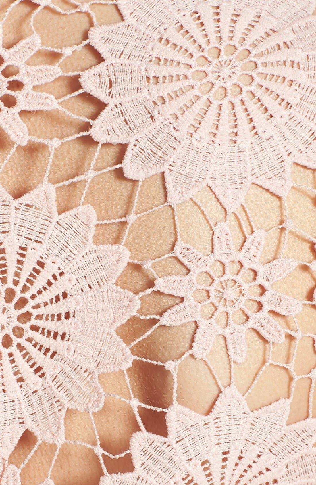 Alternate Image 3  - ASTR Crocheted Floral Crop Top