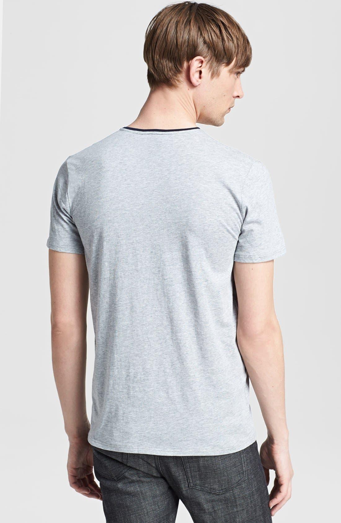 Alternate Image 2  - The Kooples Embroidered Pocket V-Neck T-Shirt
