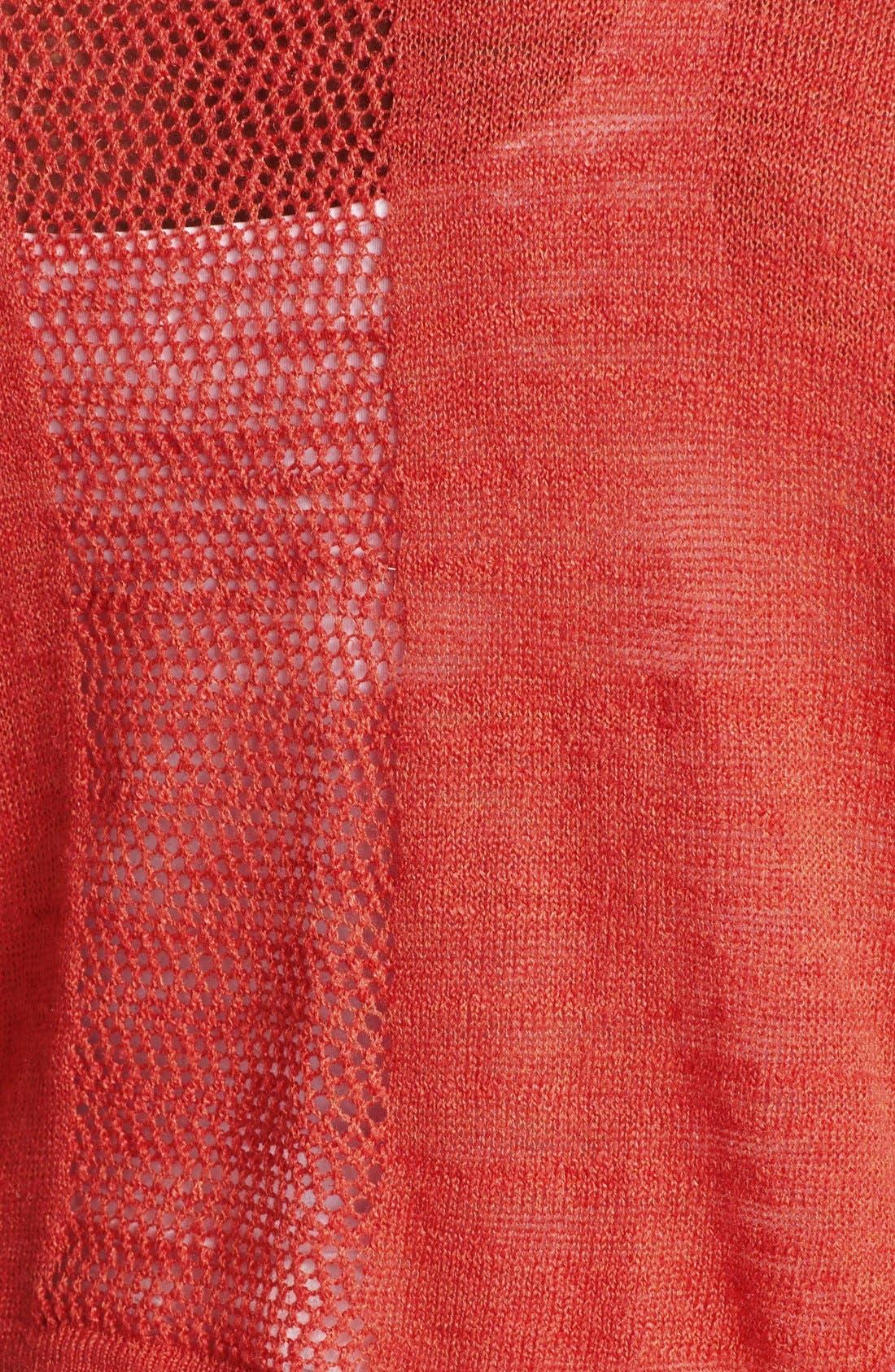 Alternate Image 3  - Lucky Brand 'Monrovia' Pointelle Cardigan (Plus Size)