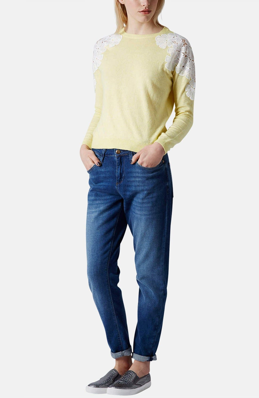 Alternate Image 5  - Topshop Embroidered Shoulder Knit Sweater
