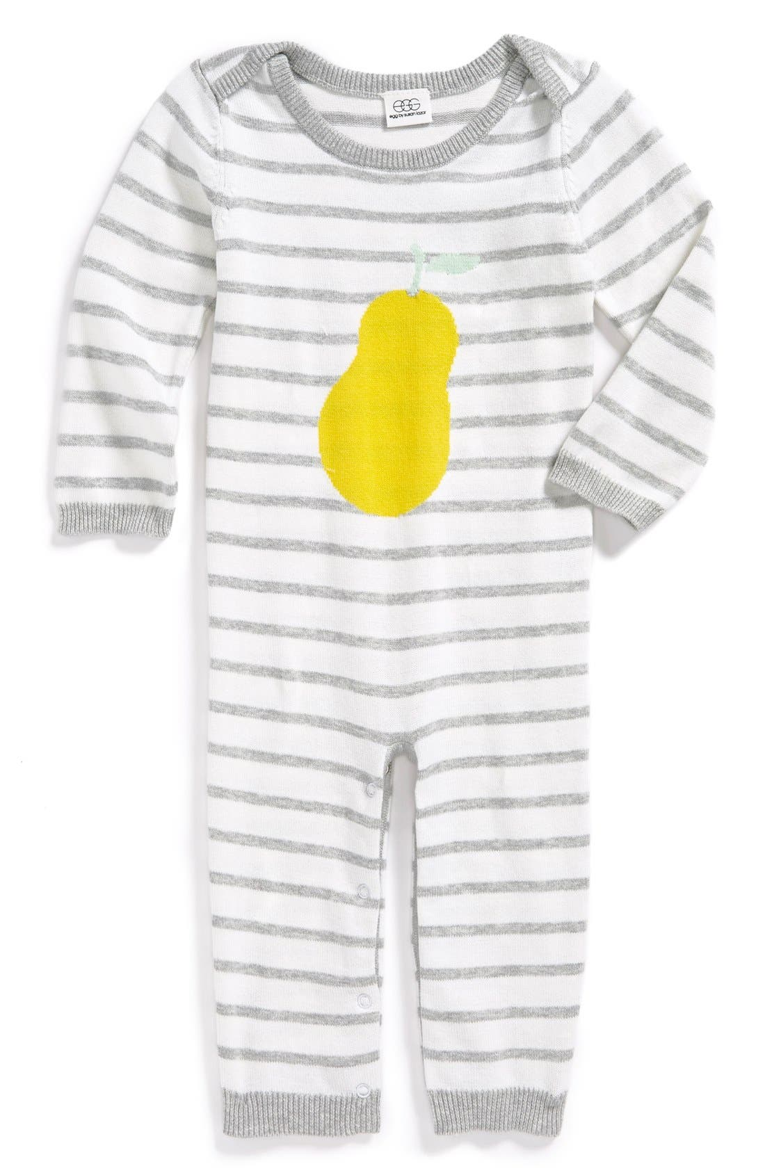 Main Image - egg by susan lazar Sweater Knit Romper (Baby Girls)