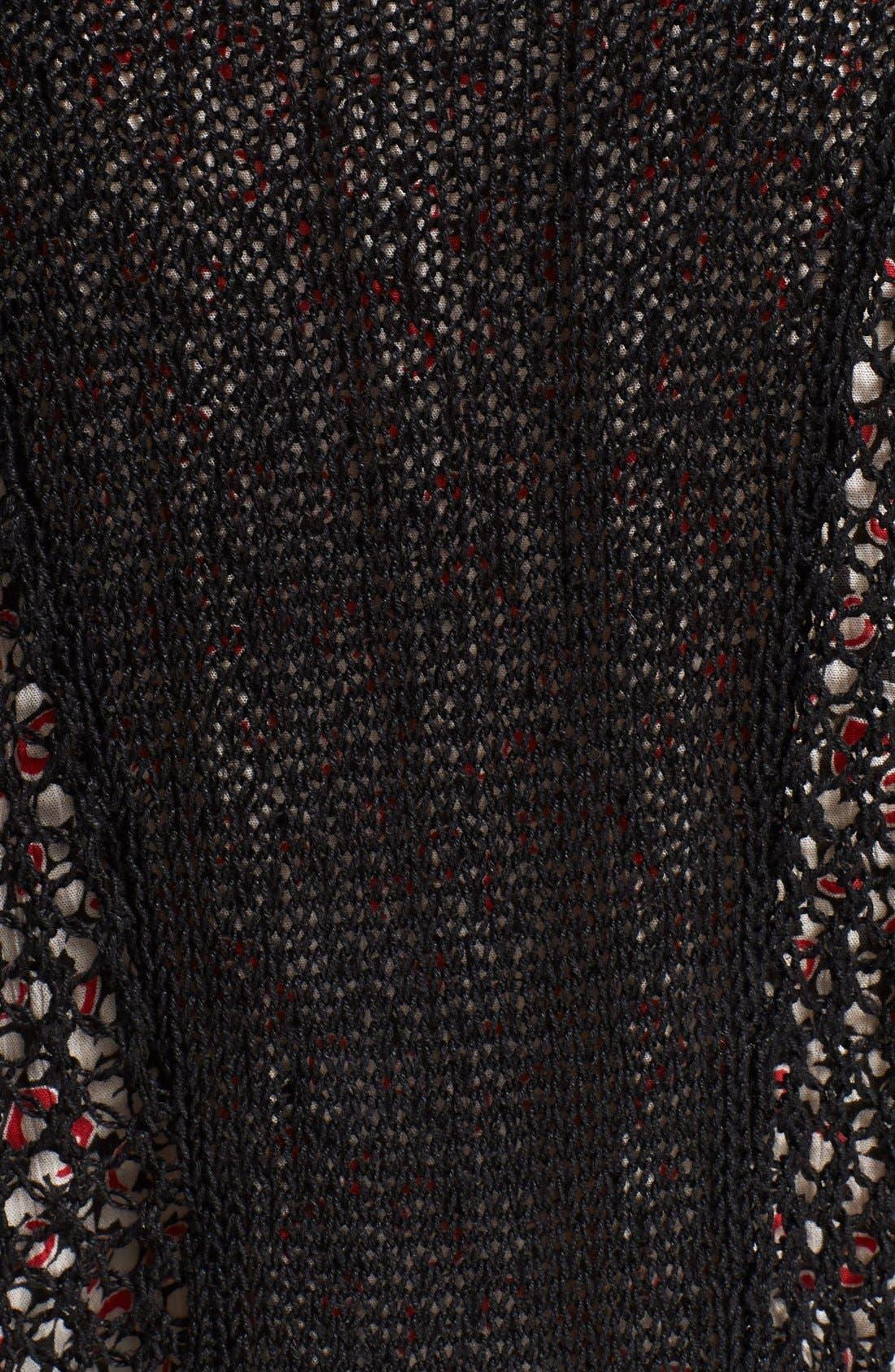 Alternate Image 3  - Zadig & Voltaire 'Daphnee' Leather Trim Leather Cardigan