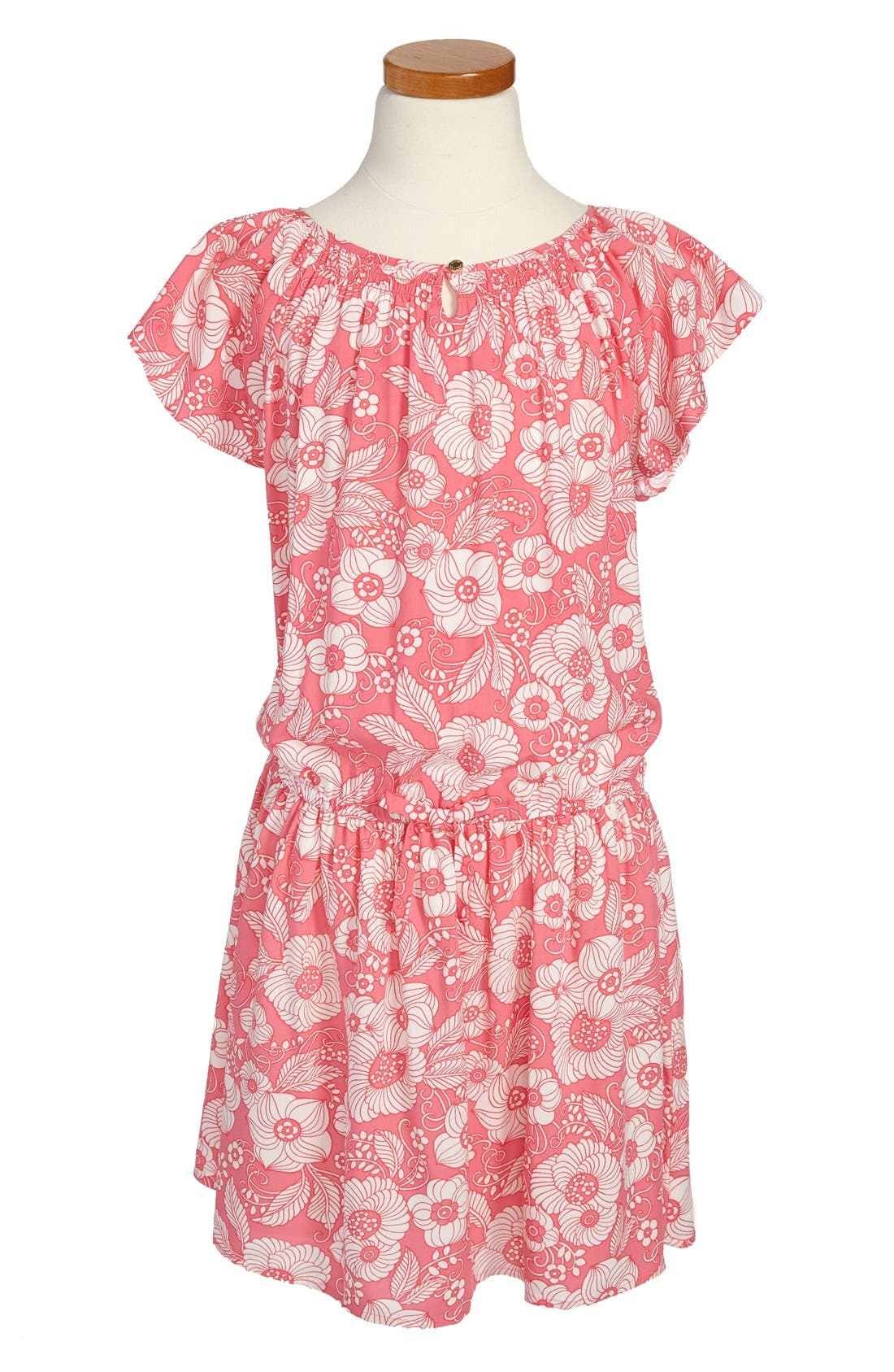 Main Image - Juicy Couture 'Vanity Scroll' Dress (Little Girls & Big Girls)