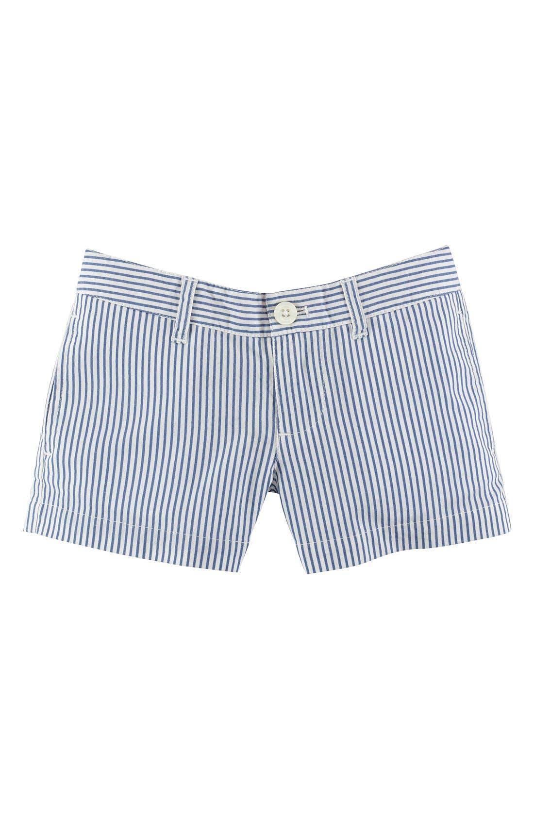Main Image - Ralph Lauren Seersucker Shorts (Toddler Girls)