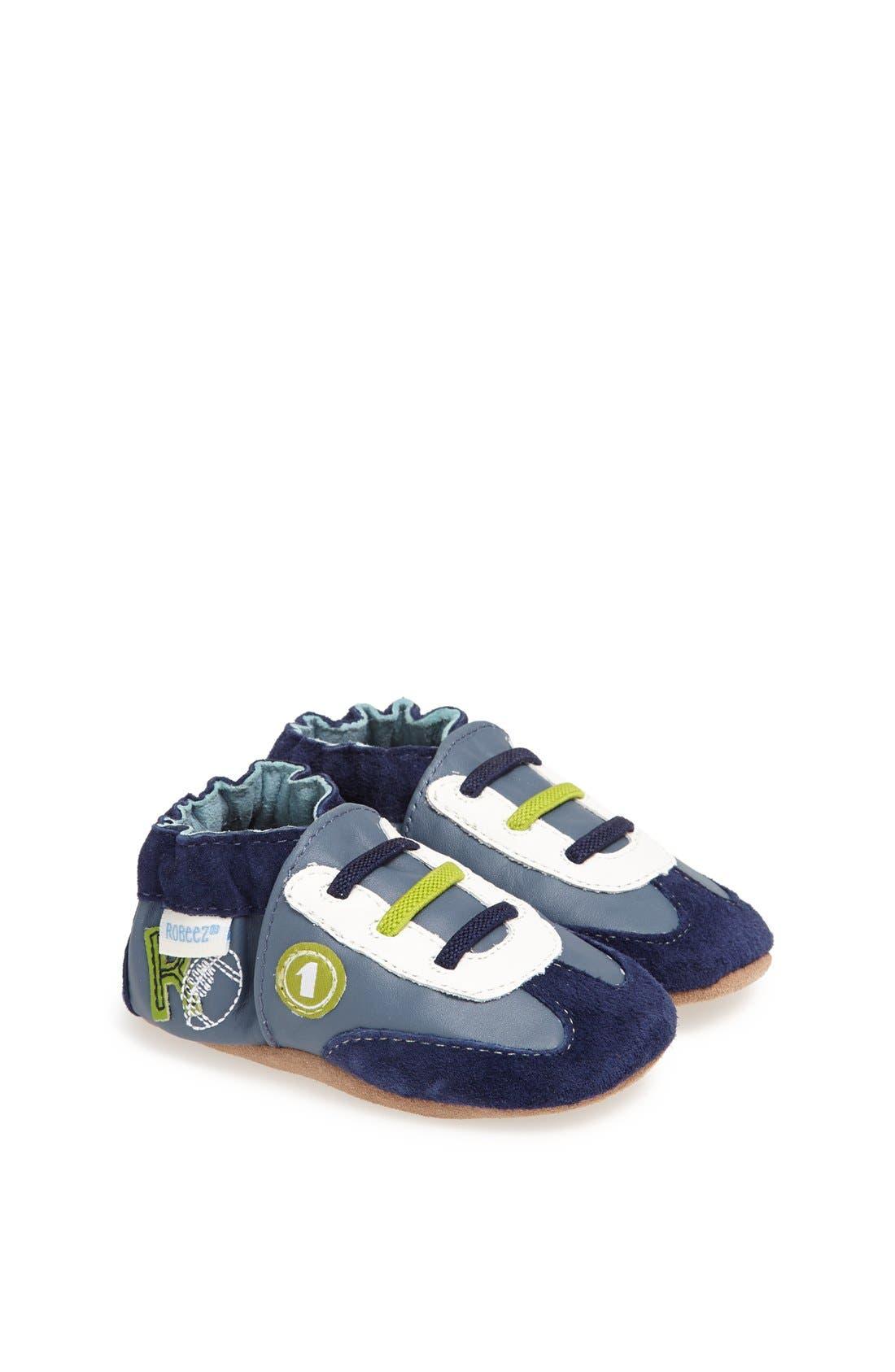 Alternate Image 1 Selected - Robeez® 'All Star Rodney' Crib Shoe (Baby & Walker)
