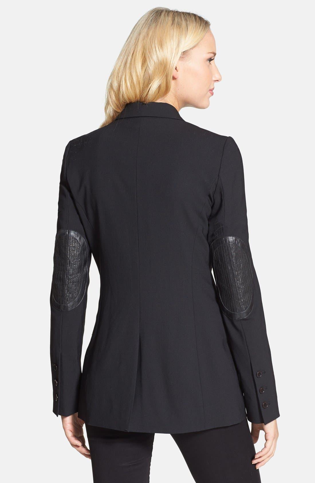 Alternate Image 2  - Rachel Roy Elbow Patch Fitted Blazer