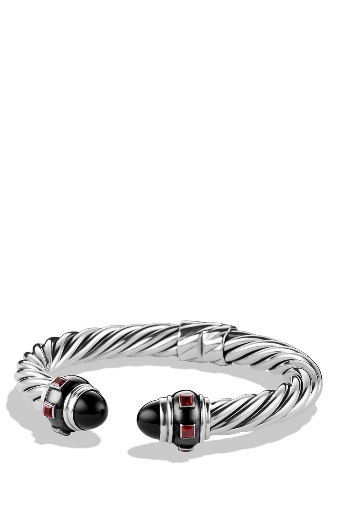 Alternate Image 1 Selected - David Yurman 'Renaissance' Bracelet with Black Onyx and Ruby