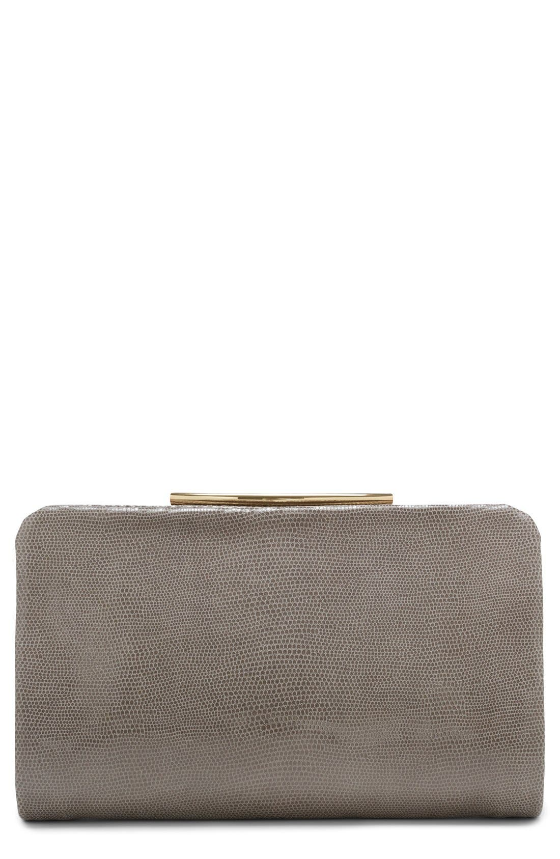 Alternate Image 1 Selected - Vince Camuto 'Ella' Leather Clutch