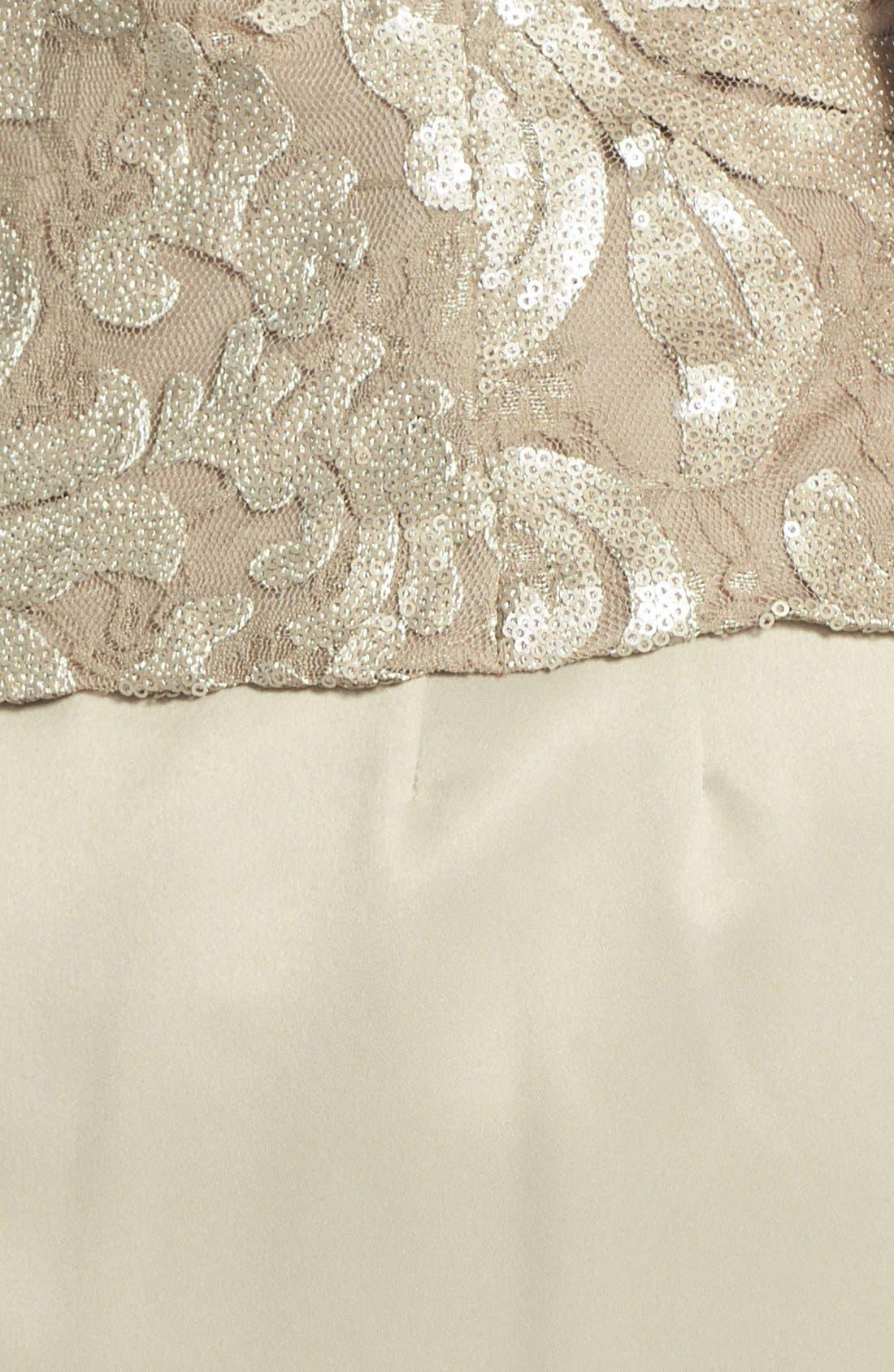 Alternate Image 3  - Alex Evenings Embellished Chiffon Gown & Jacket (Plus Size)