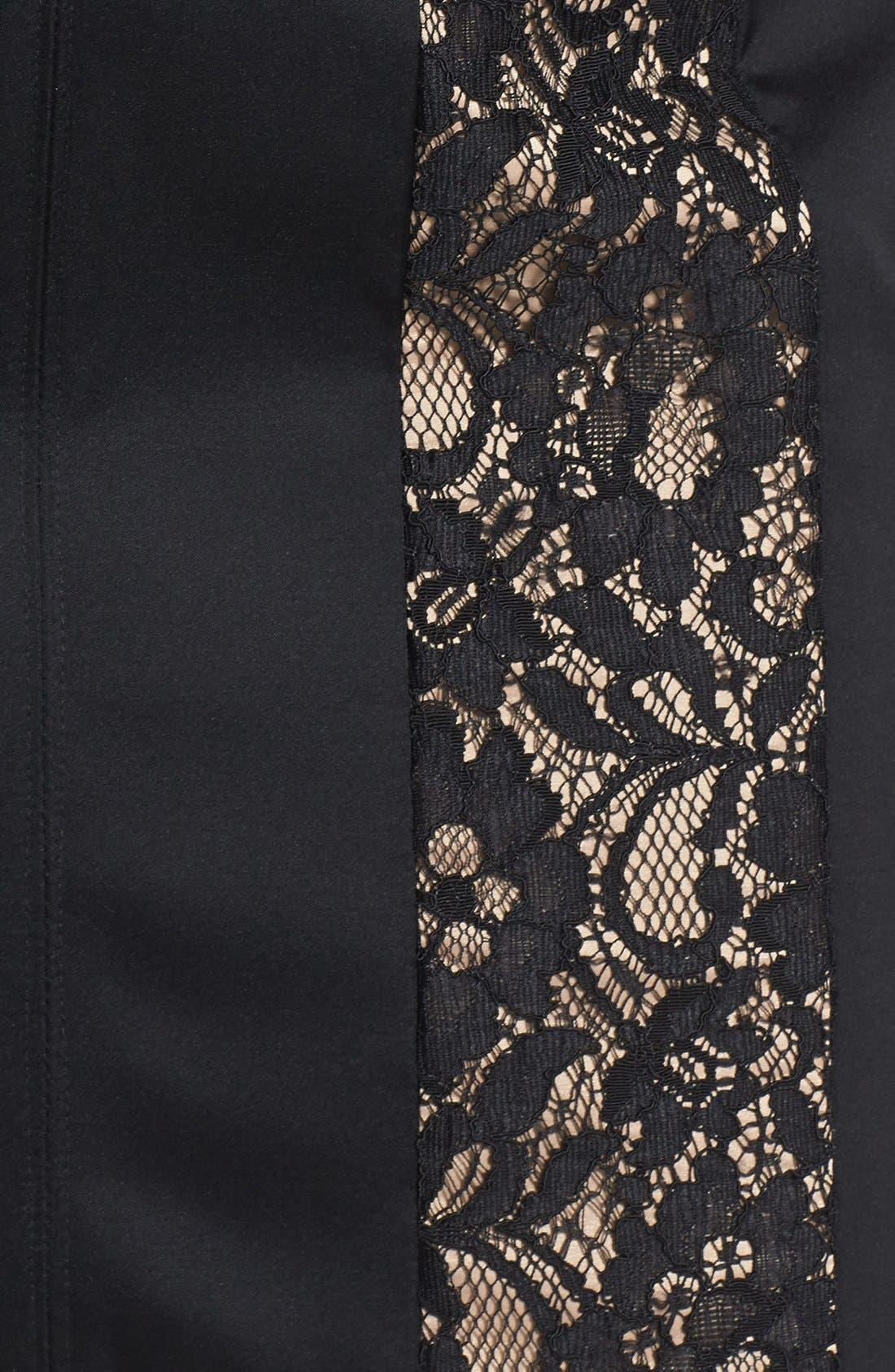 Alternate Image 4  - Aidan Mattox Lace Inset Sheath Dress