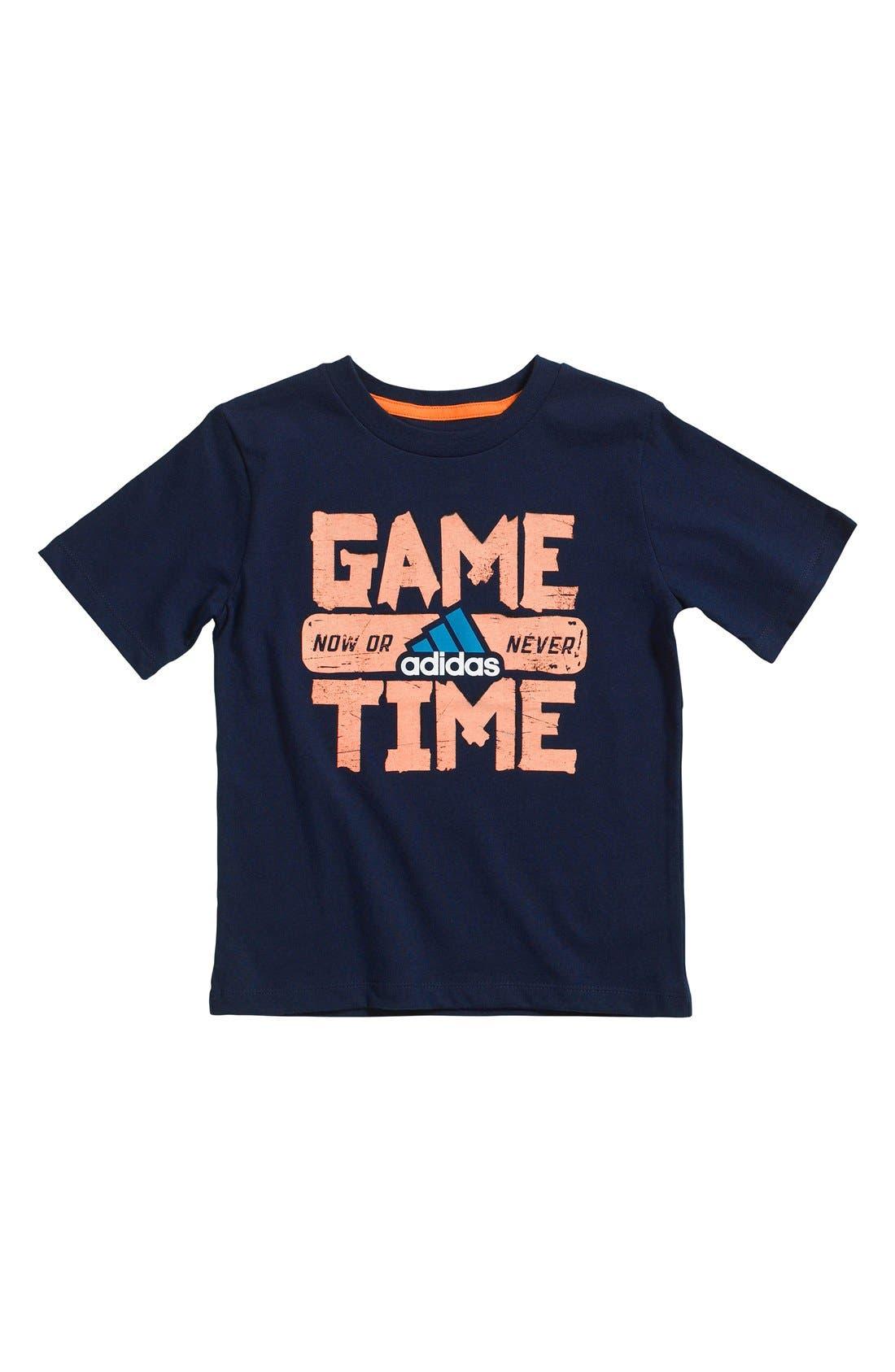 Main Image - adidas 'Go for Glow' T-Shirt (Little Boys)