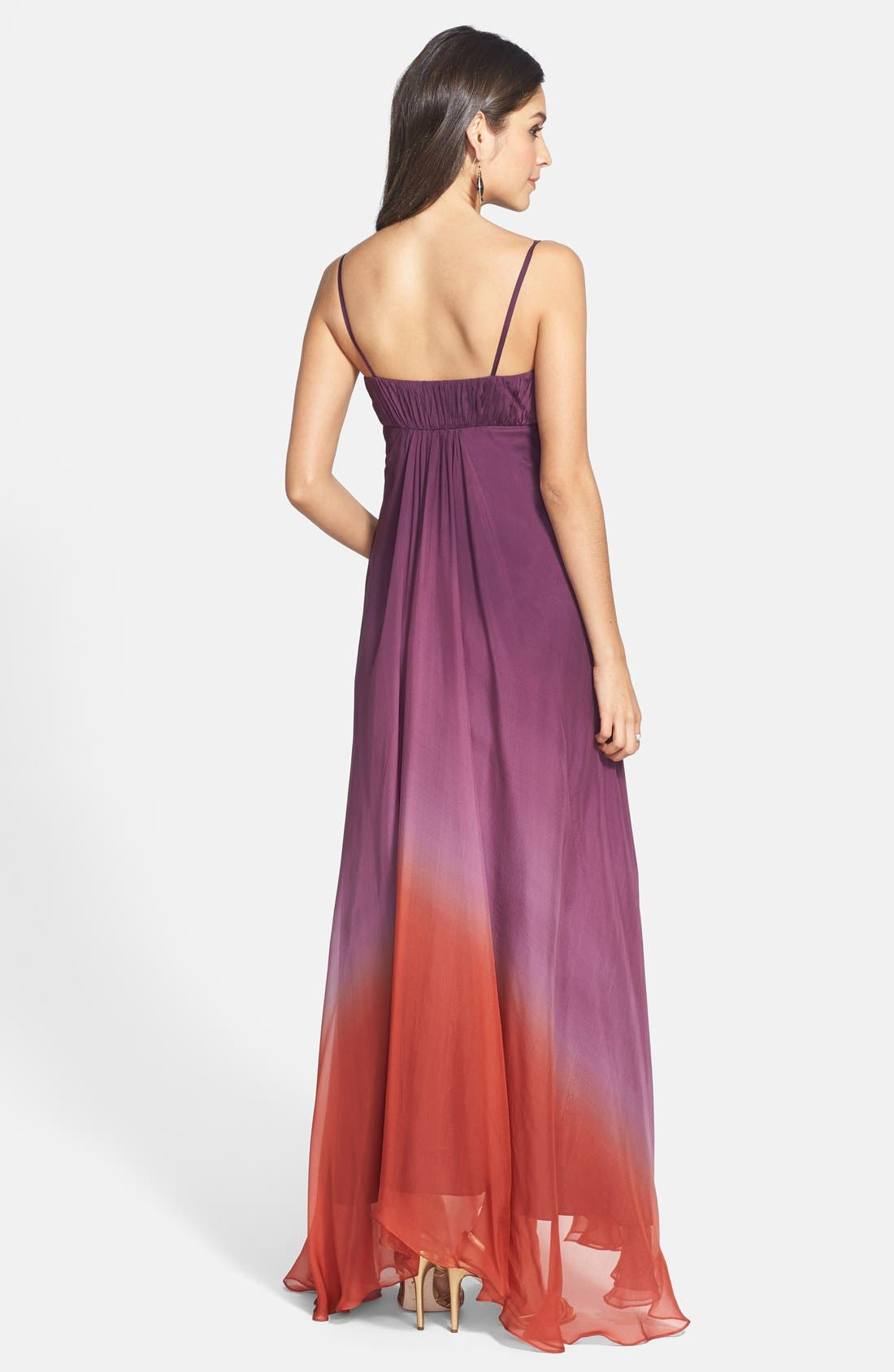 Alternate Image 2  - JS Collections Ombré Chiffon Gown