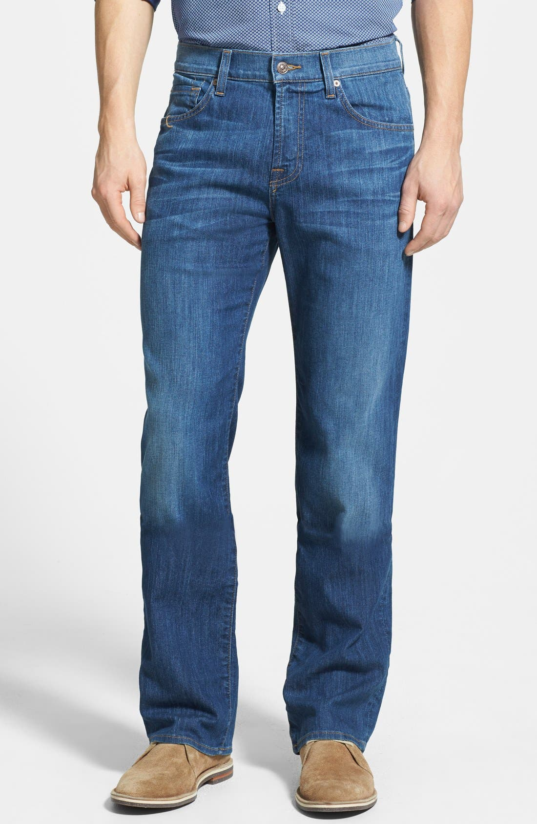 Alternate Image 1 Selected - 7 For All Mankind® 'Austyn' Relaxed Fit Jeans (Mountak Lake)