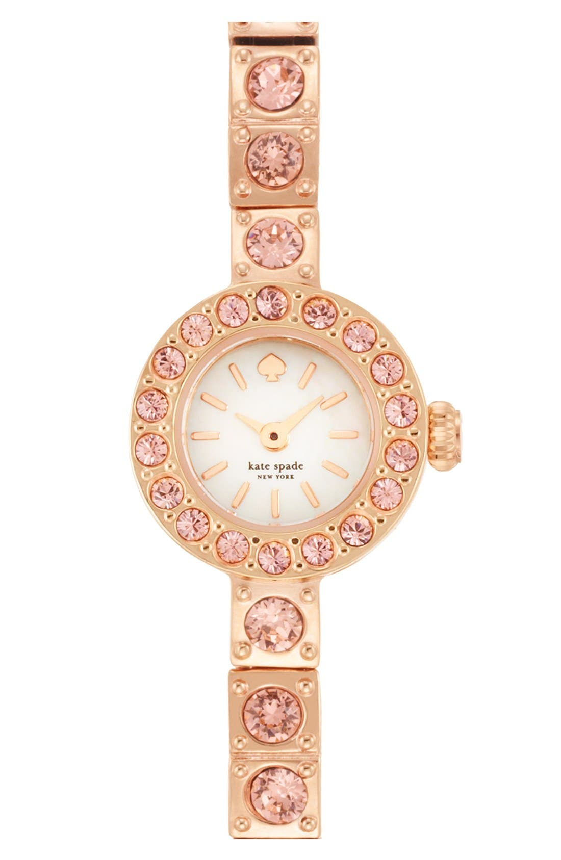 Main Image - kate spade new york 'pierre' pavé bracelet watch, 10mm