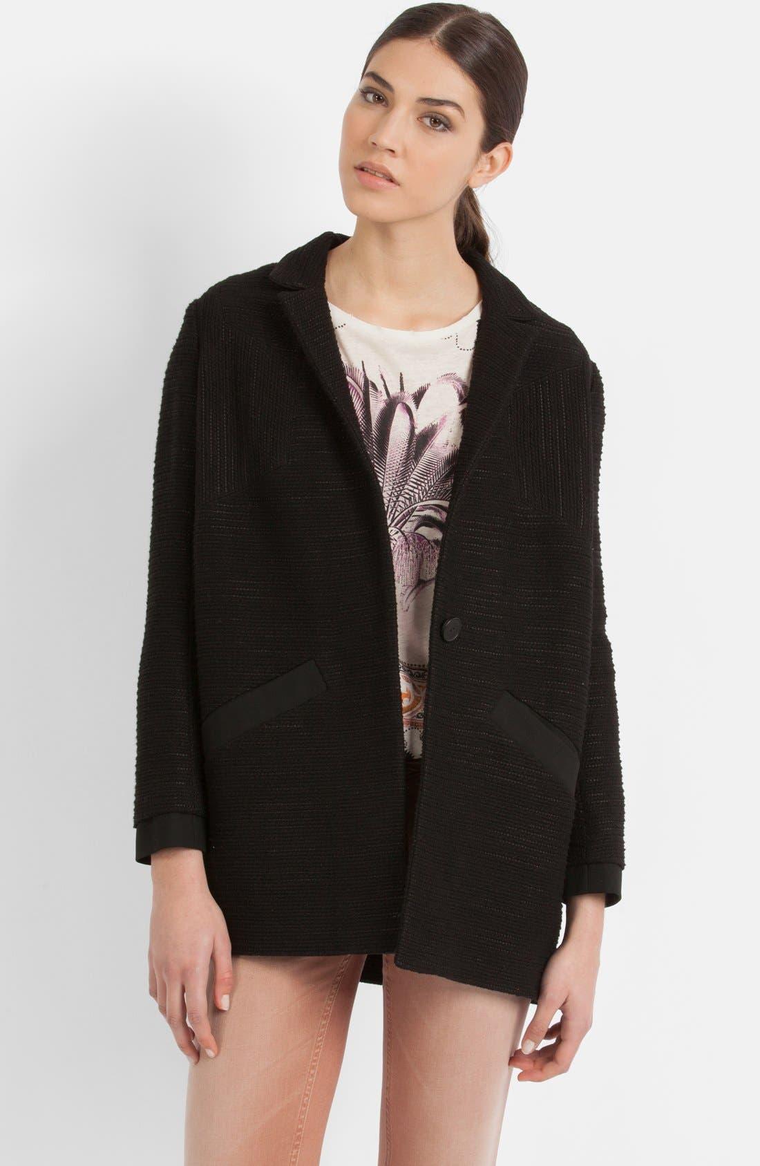 Main Image - maje 'Ecoutille' Woven Jacket