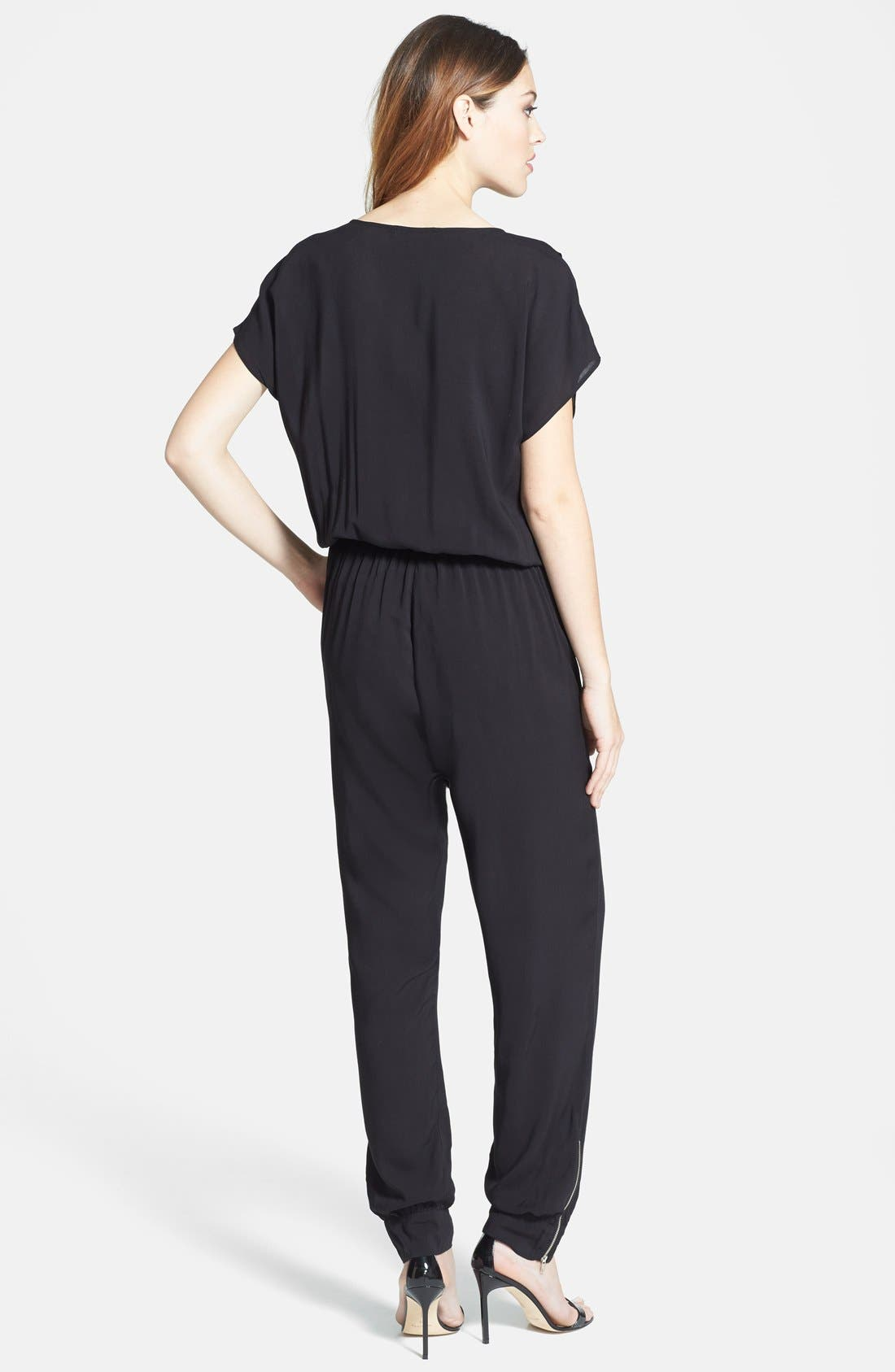 Alternate Image 2  - Olivia Moon Wrap Top Jumpsuit (Regular & Petite)