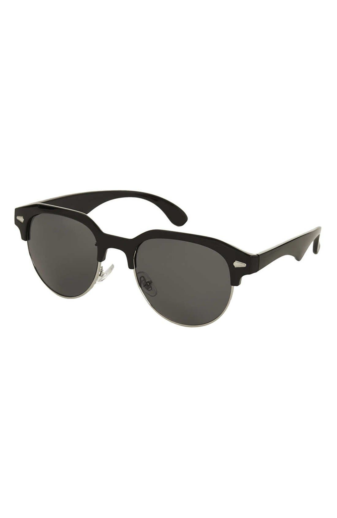 Alternate Image 1 Selected - Topshop 'Cassie' 50mm Sunglasses