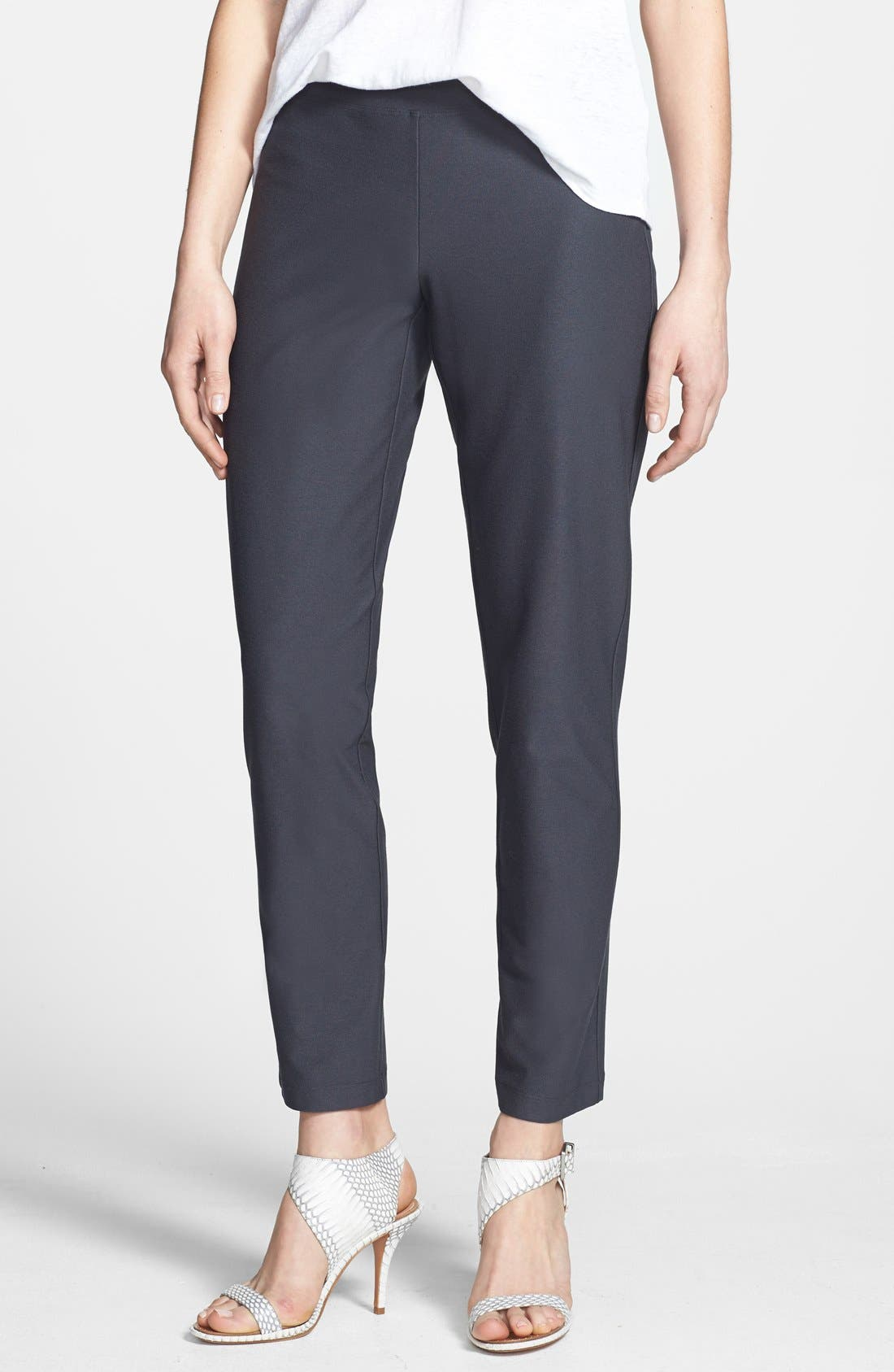 Alternate Image 1 Selected - Eileen Fisher Slim Ankle Pants