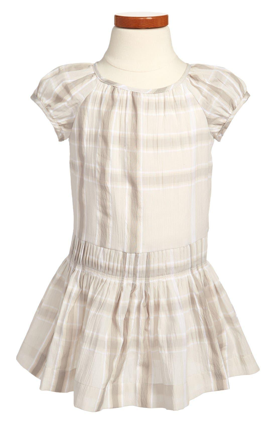 Alternate Image 1 Selected - Burberry 'Edemme' Dress (Little Girls & Big Girls)