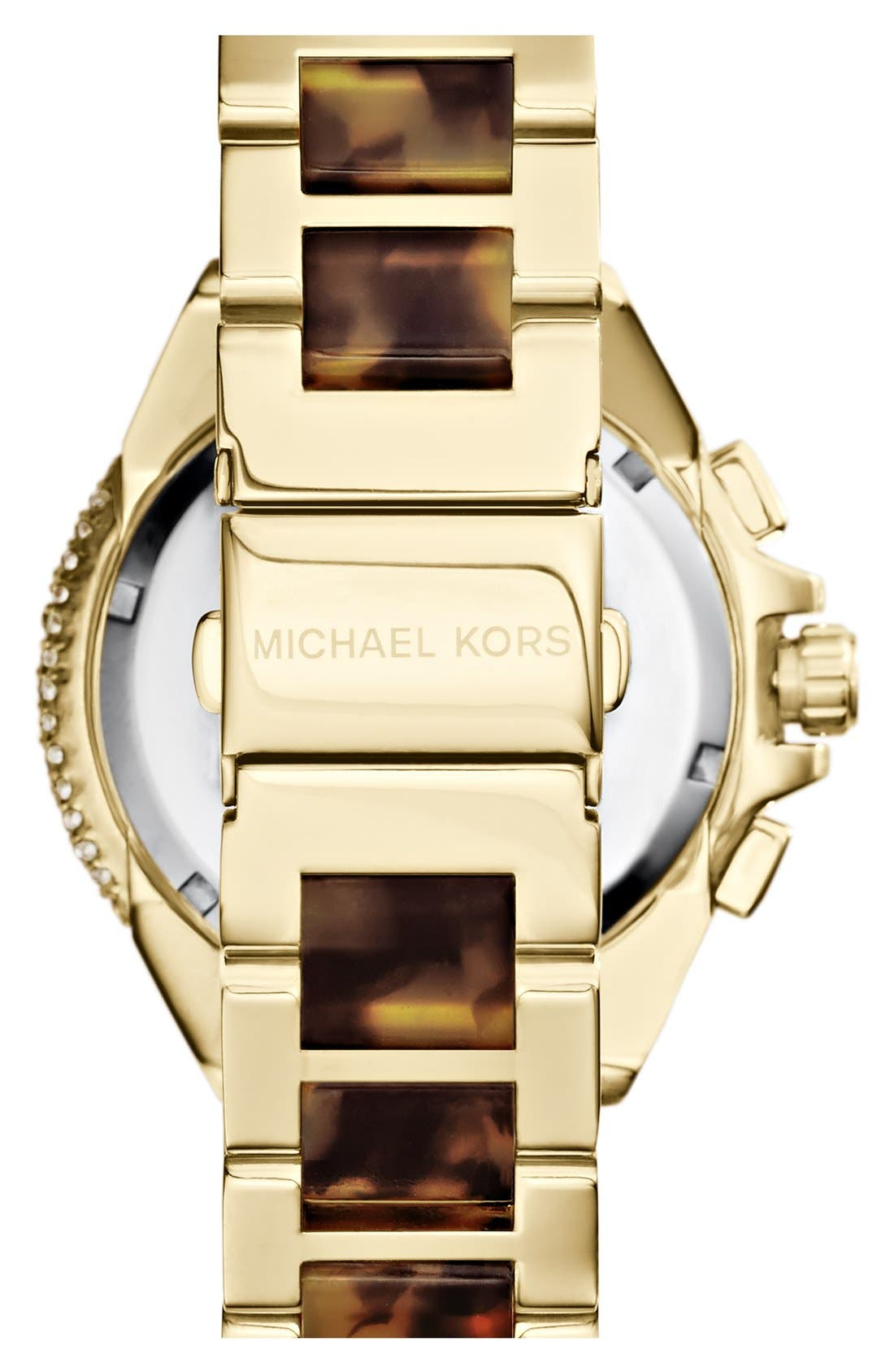 Alternate Image 2  - Michael Kors 'Camille' Crystal Bezel Chronograph Bracelet Watch, 43mm