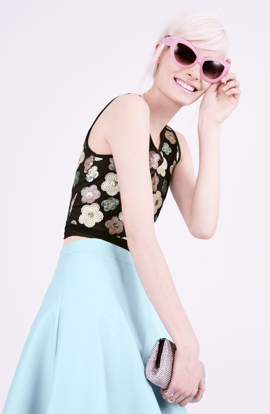 Alternate Image 5  - Tildon Sequin Floral Crop Top