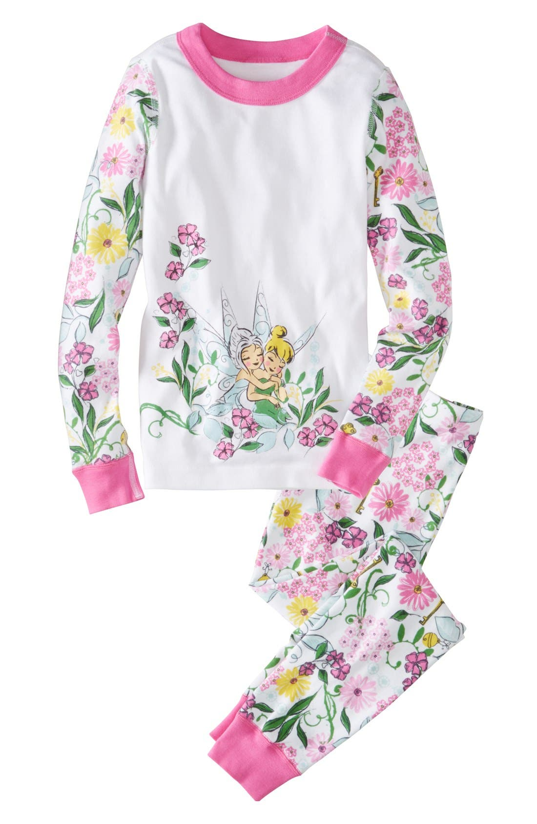 Alternate Image 1 Selected - Hanna Andersson 'Tink and Peri' Two-Piece Organic Cotton Fitted Pajamas (Little Girls & Big Girls)