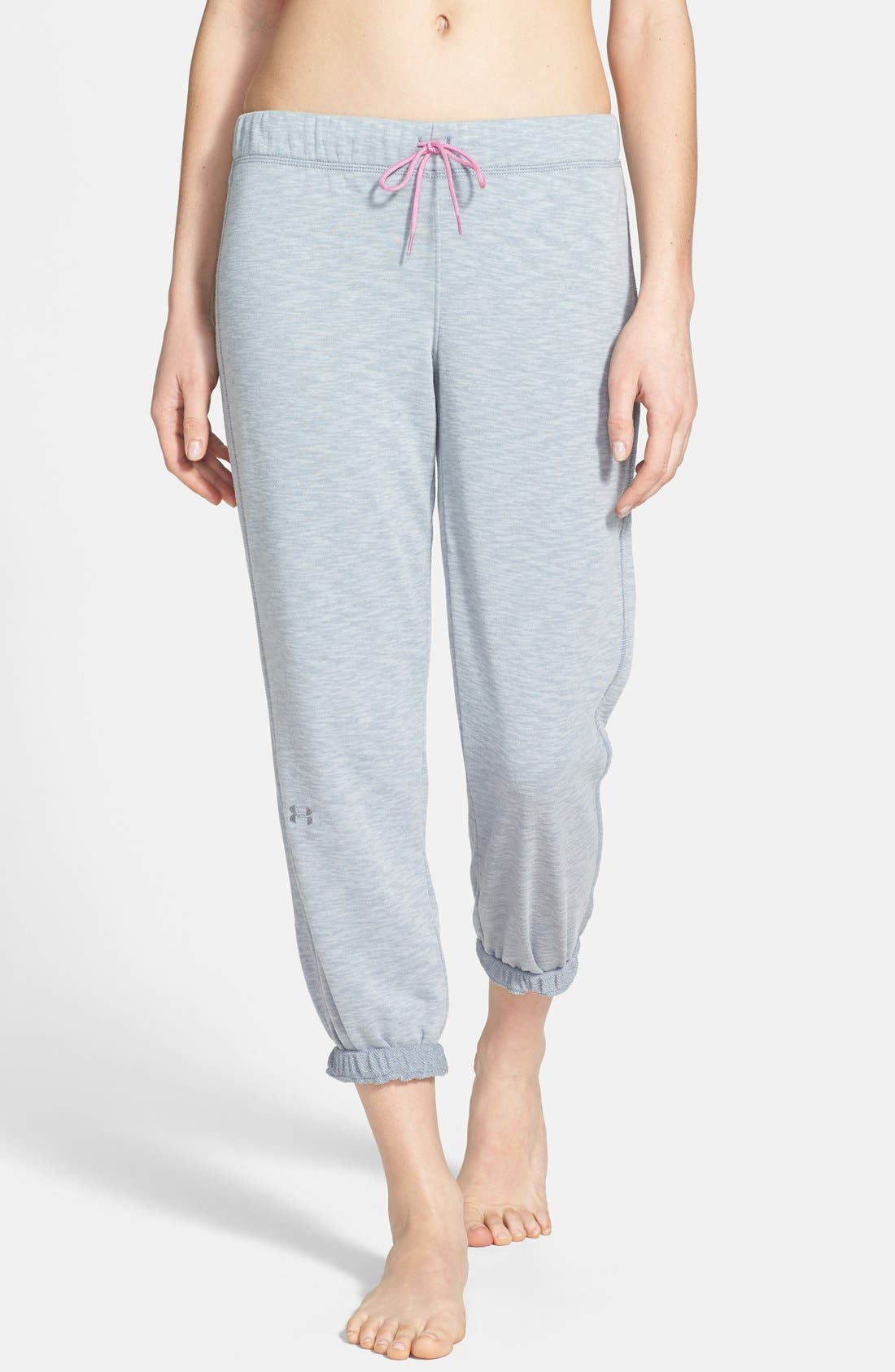 Alternate Image 1 Selected - Under Armour 'Rollick' French Terry Fleece Capri Sweatpants