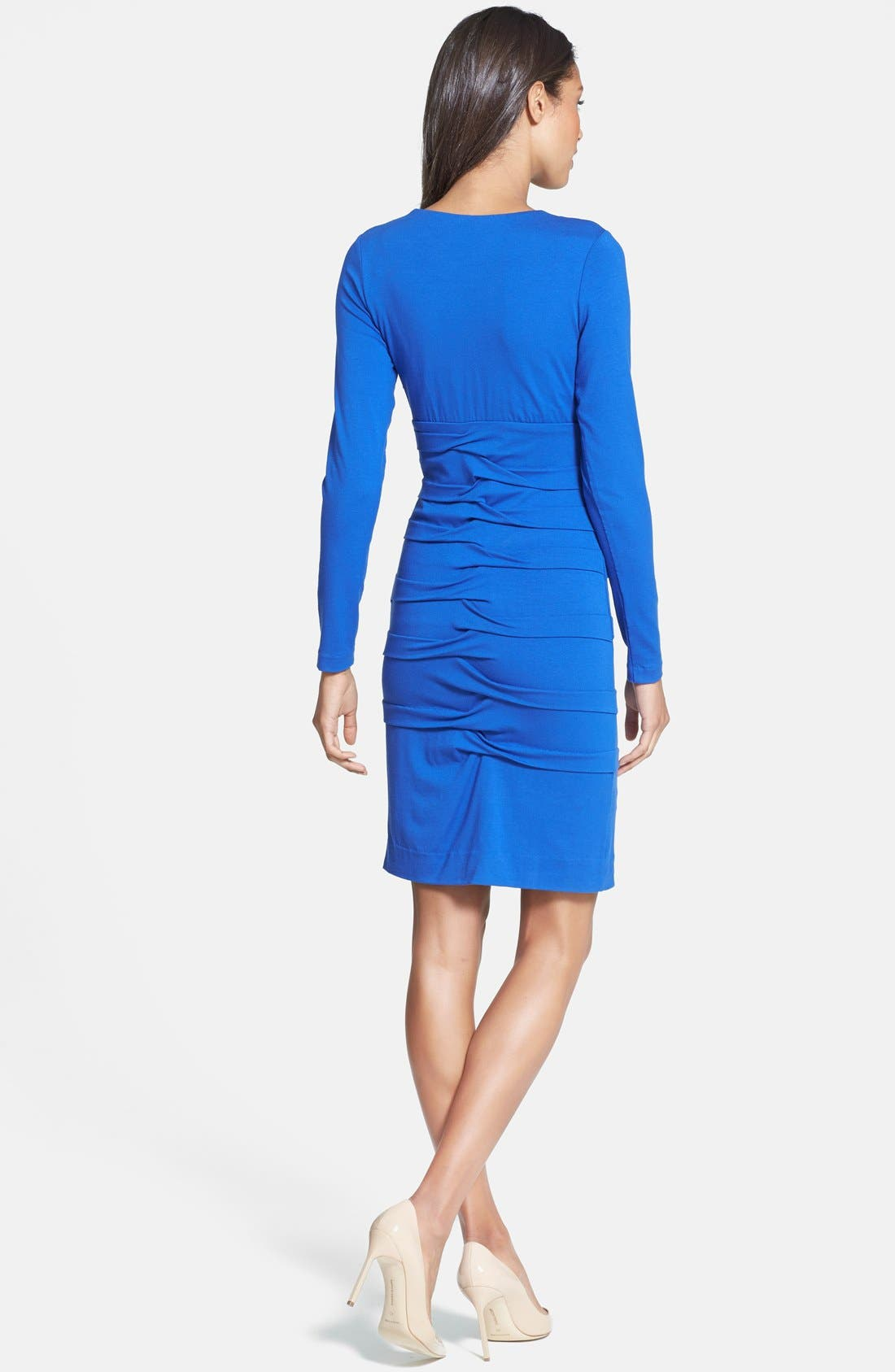 Alternate Image 2  - Nicole Miller Tuck Detail Jersey Dress