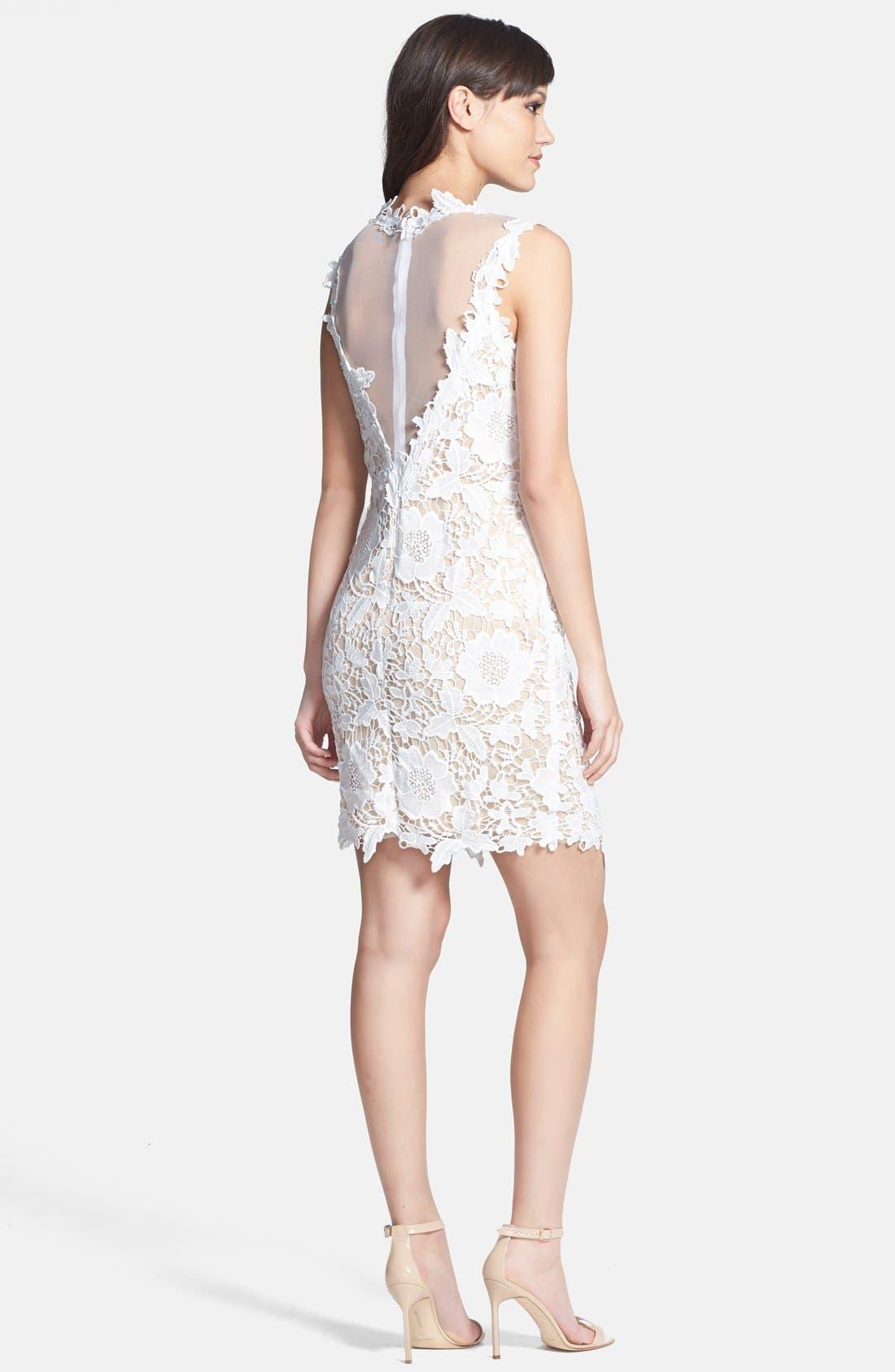 Alternate Image 3  - Betsy & Adam Two-Tone Lace Sheath Dress