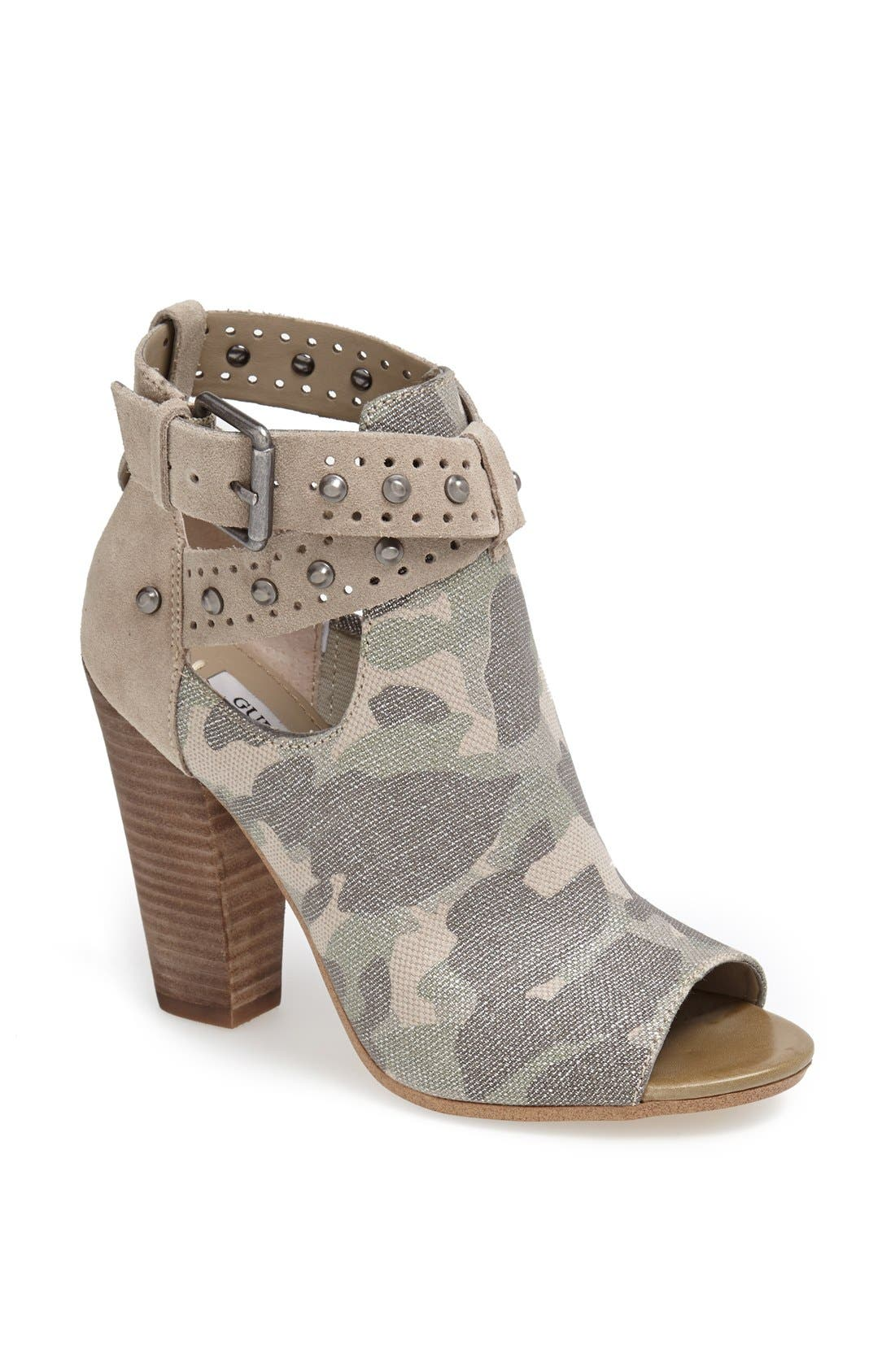 Alternate Image 1 Selected - GUESS 'Bagent' Cutout Camo Bootie