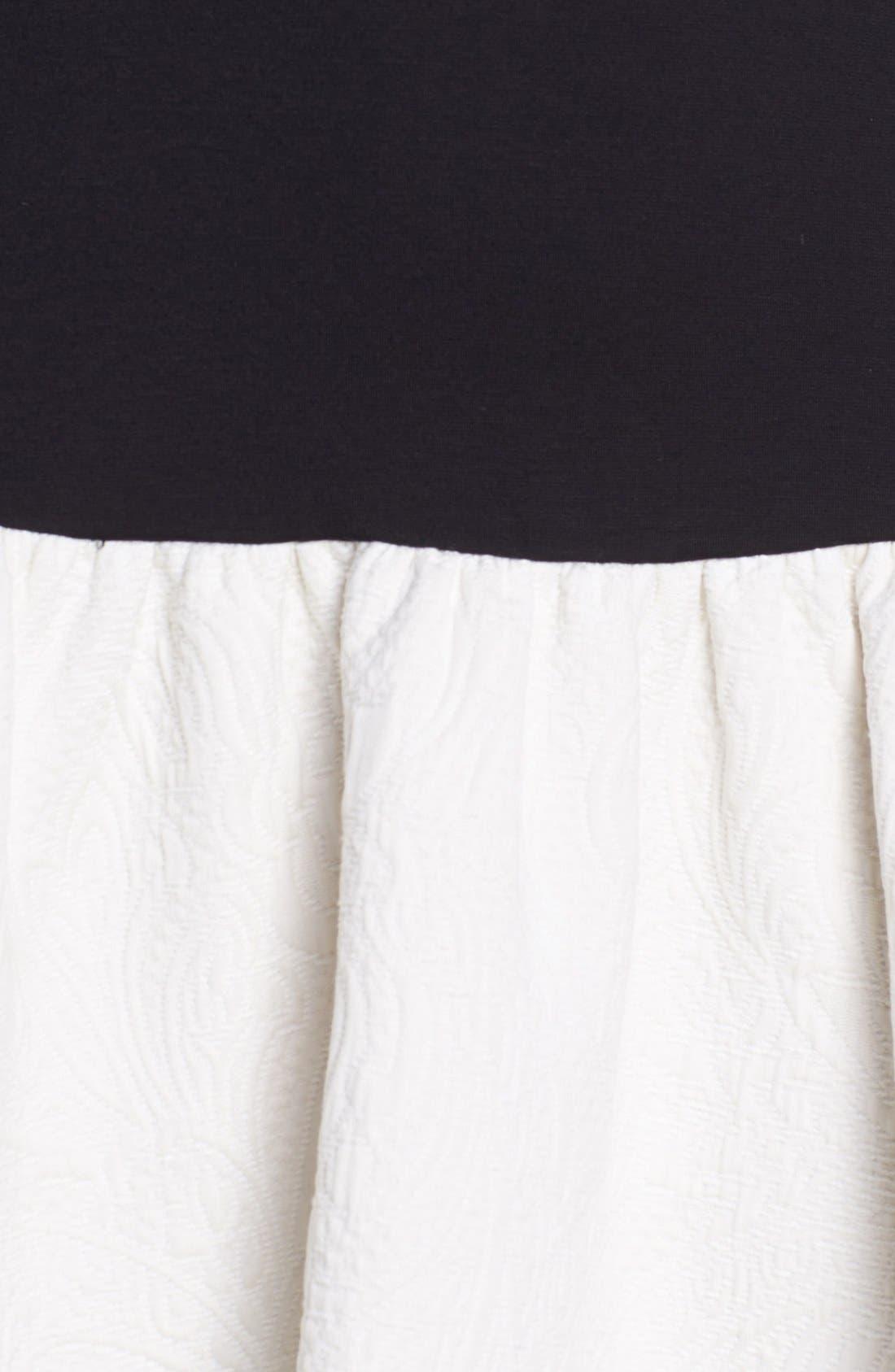 Alternate Image 4  - ERIN erin fetherston Drop Waist Ponte & Jacquard Dress