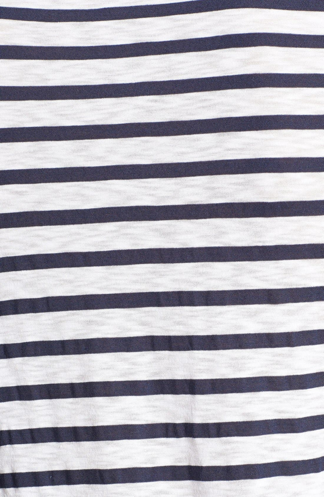 Alternate Image 3  - Splendid 'Venice' Stripe High/Low Tee