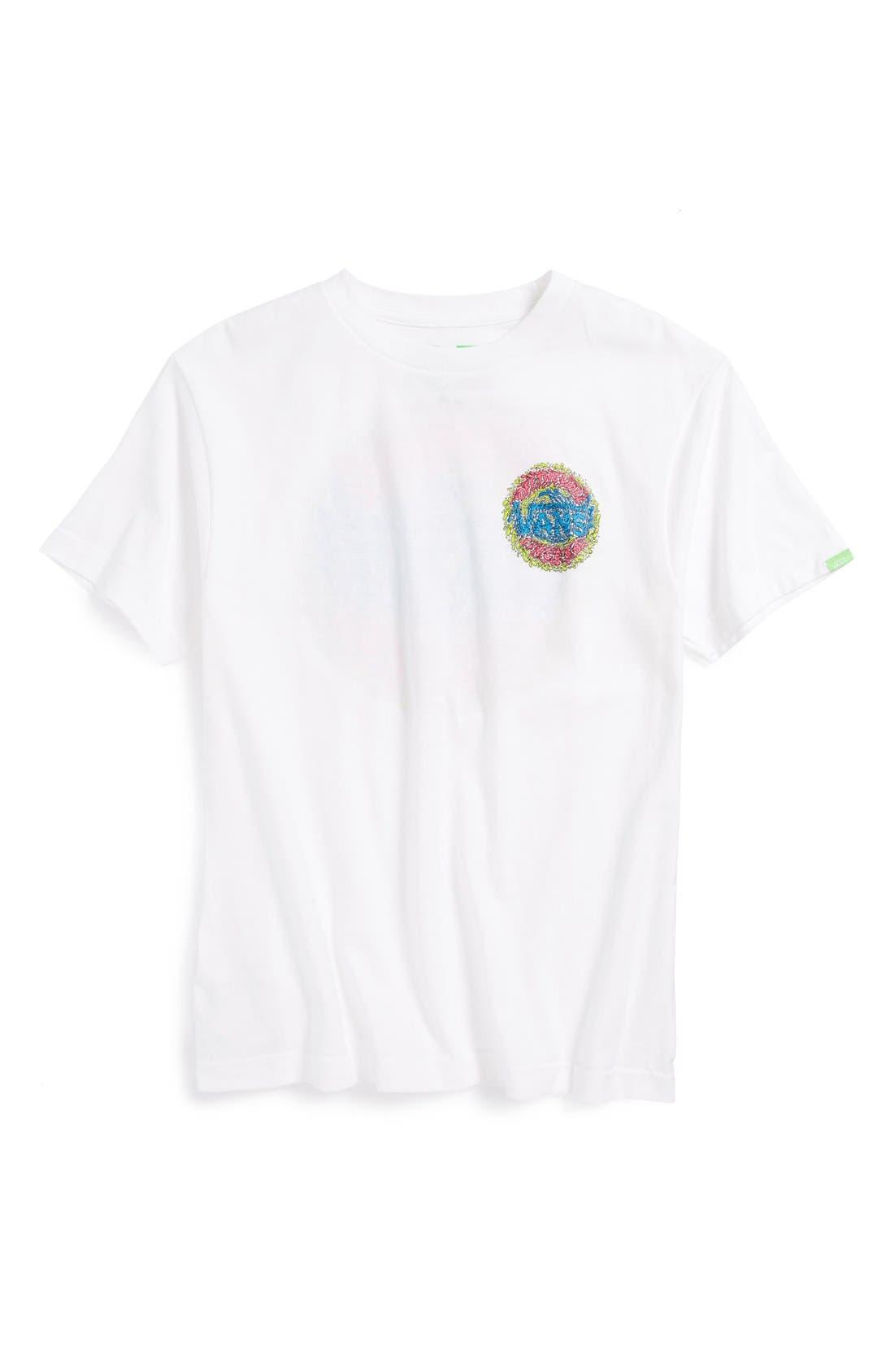 Alternate Image 1 Selected - Vans 'Slimed' Graphic T-Shirt (Big Boys)