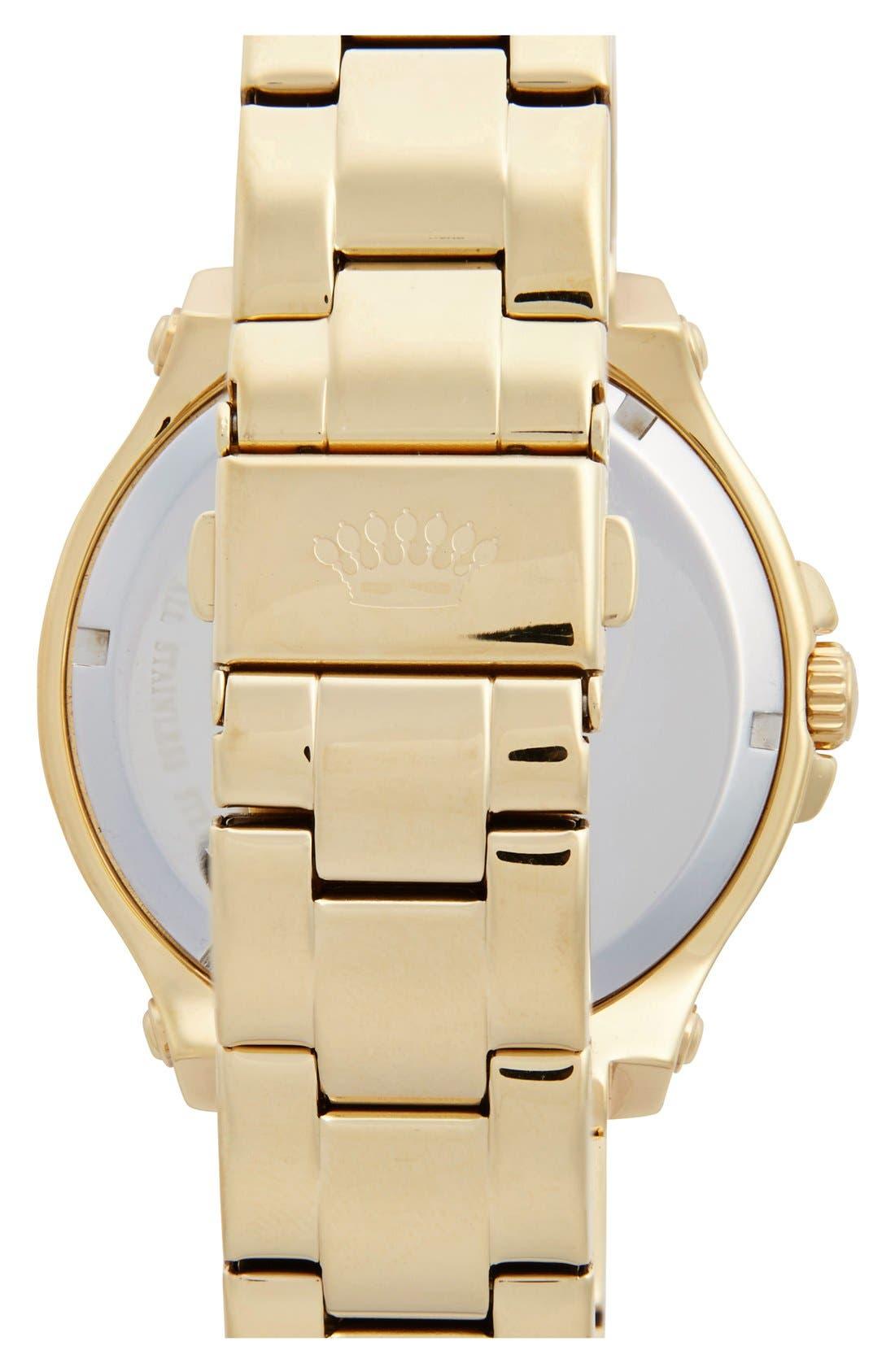 Alternate Image 2  - Juicy Couture 'Pedigree' Multifunction Bracelet Watch, 42mm