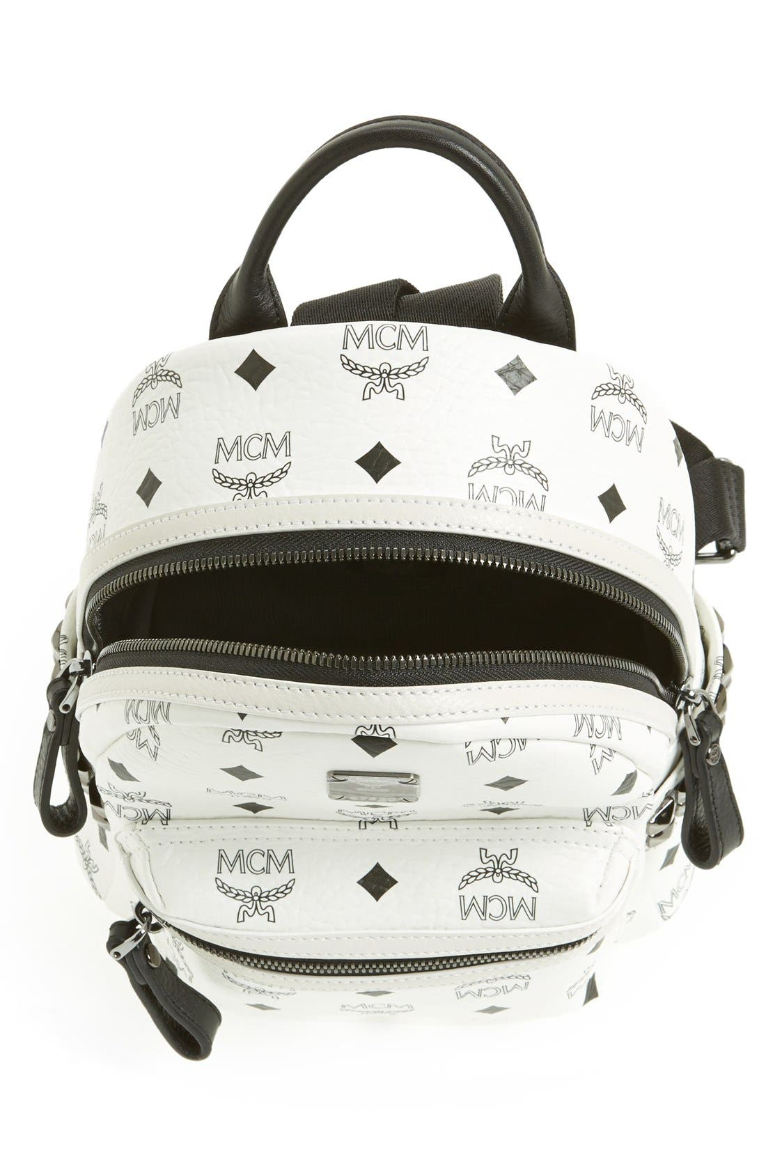 Alternate Image 3  - MCM 'Mini Stark - Visetos' Studded Backpack (Nordstrom Exclusive Color)