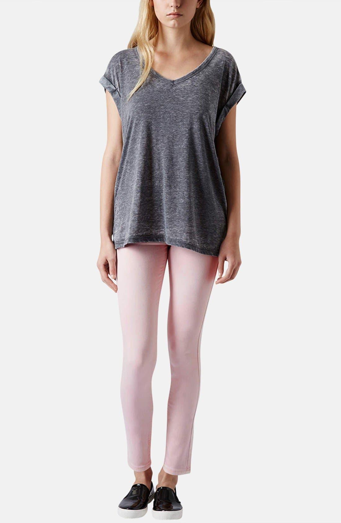 Alternate Image 5  - Topshop Moto 'Leigh' Skinny Jeans (Regular, Short & Long)