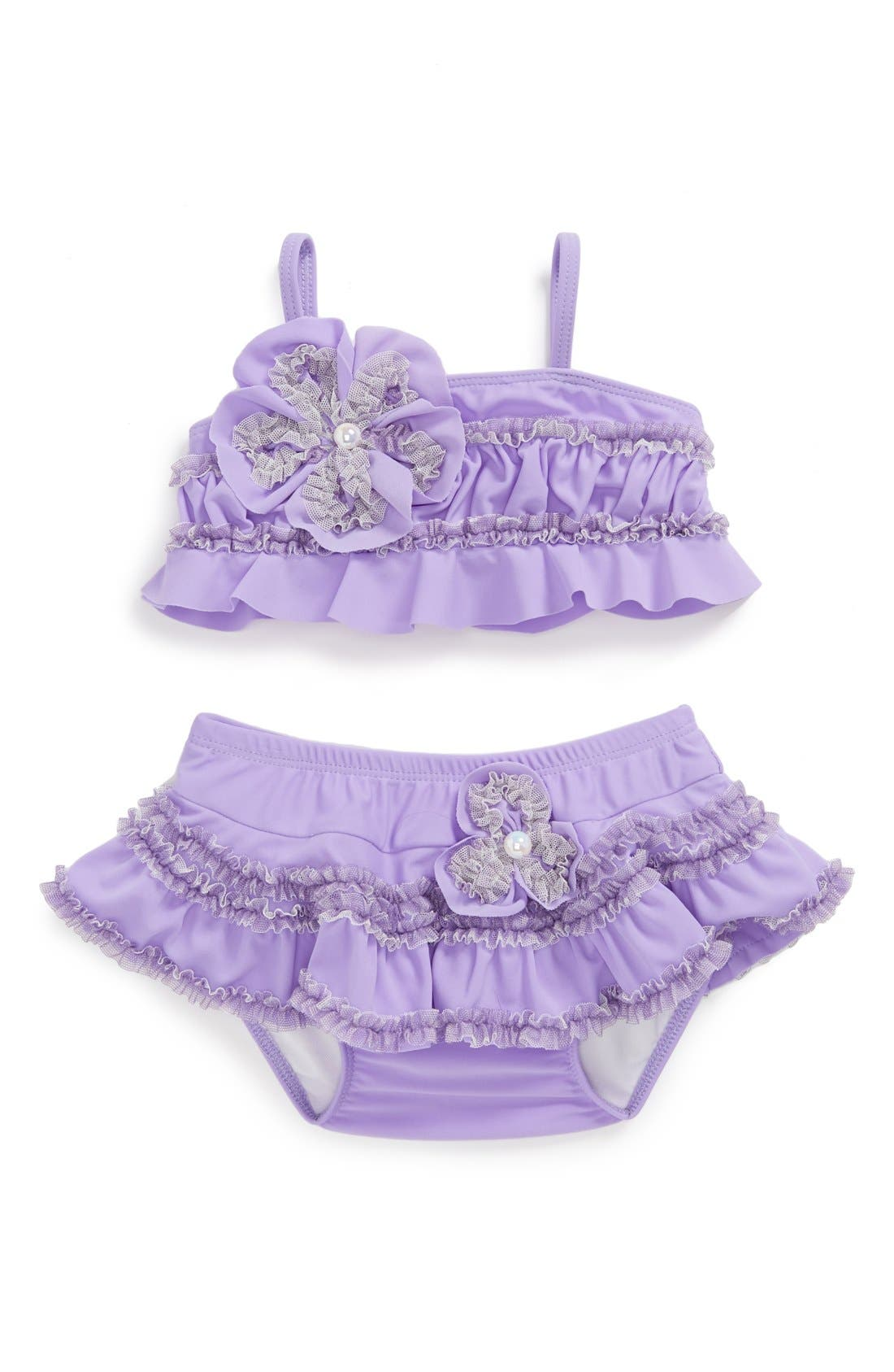 Alternate Image 1 Selected - Isobella & Chloe 'Plum Passion' Two-Piece Swimsuit (Baby Girls)