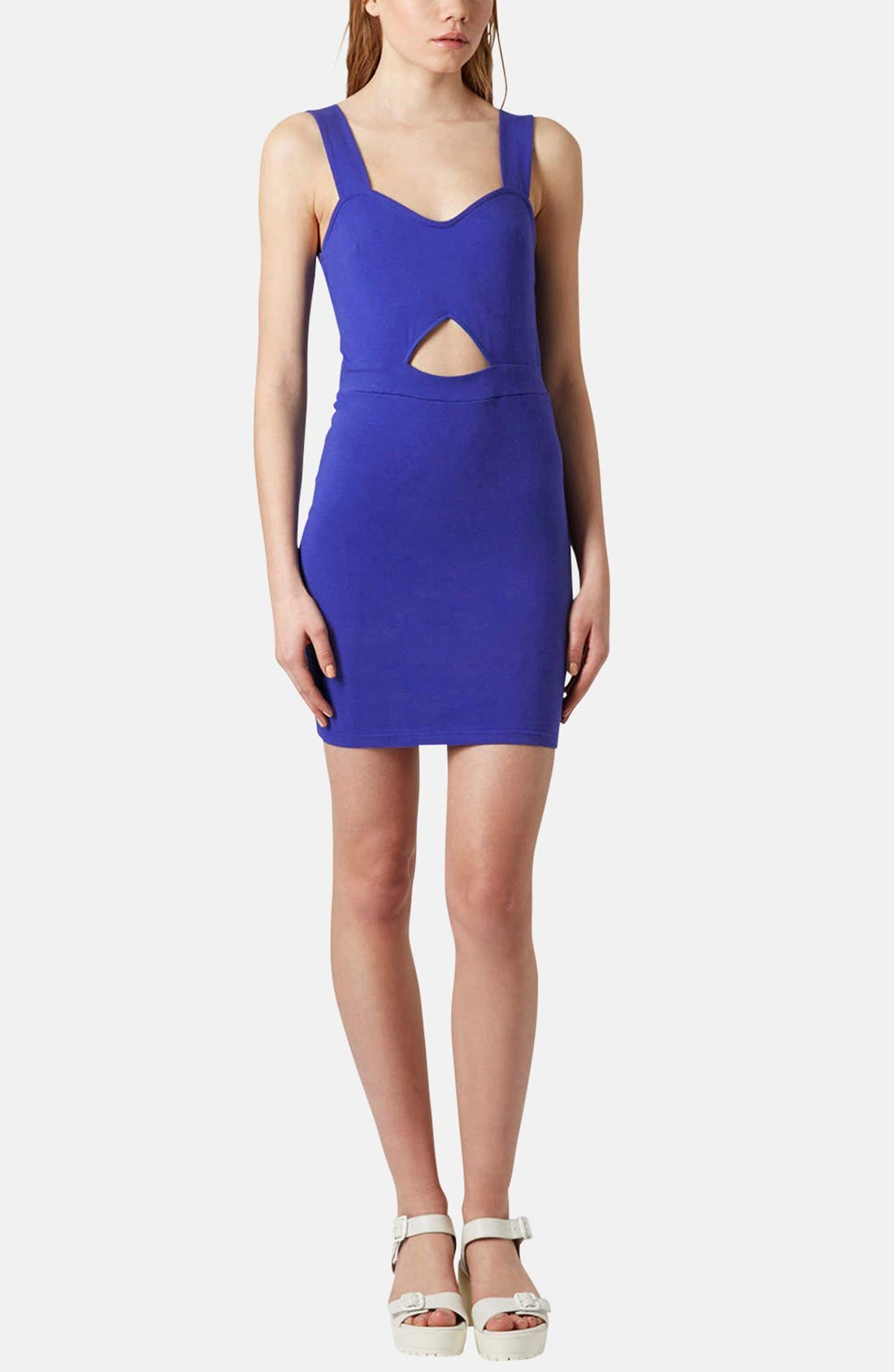 Alternate Image 5  - Topshop Cutout Jersey Body-Con Dress