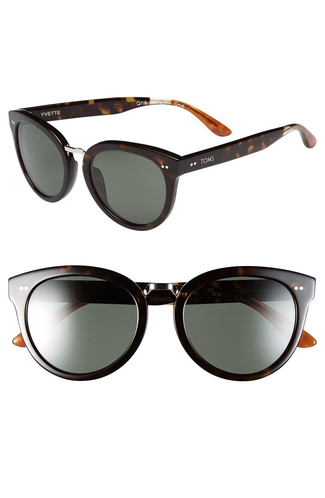 Alternate Image 1 Selected - TOMS 'Yvette' 52mm Polarized Sunglasses