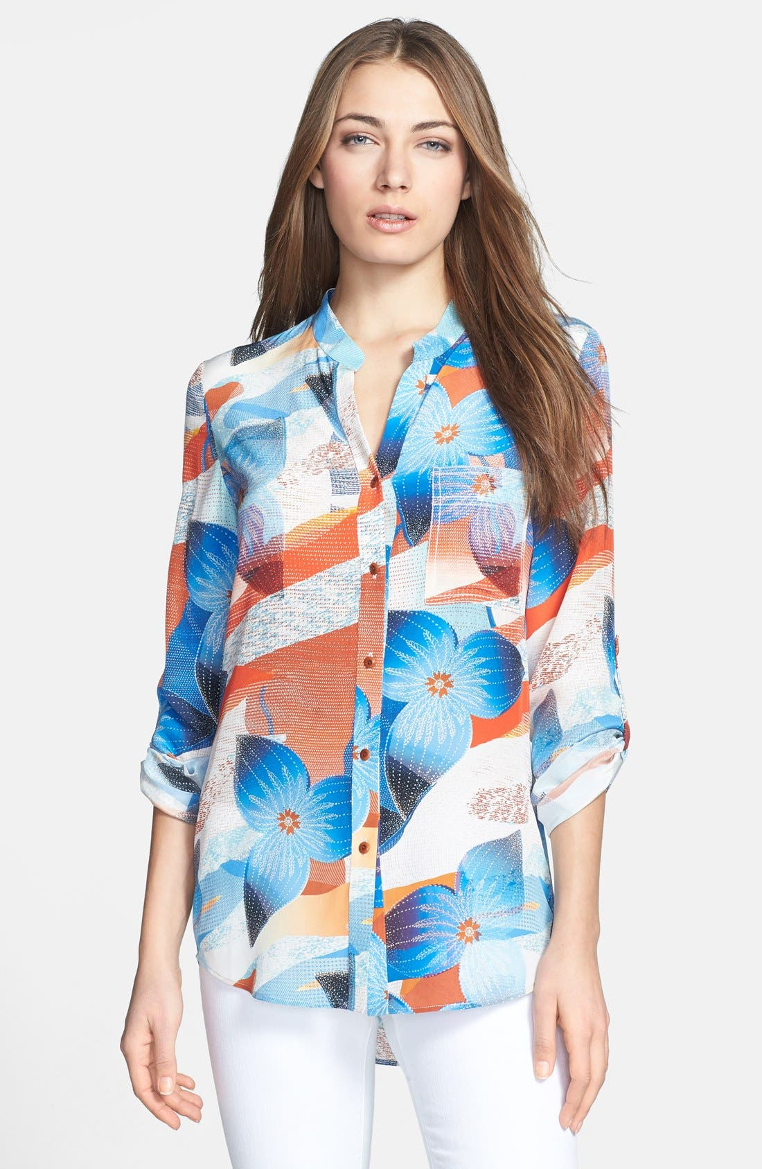 Alternate Image 1 Selected - Diane von Furstenberg 'Gilmore' Print Silk Blouse
