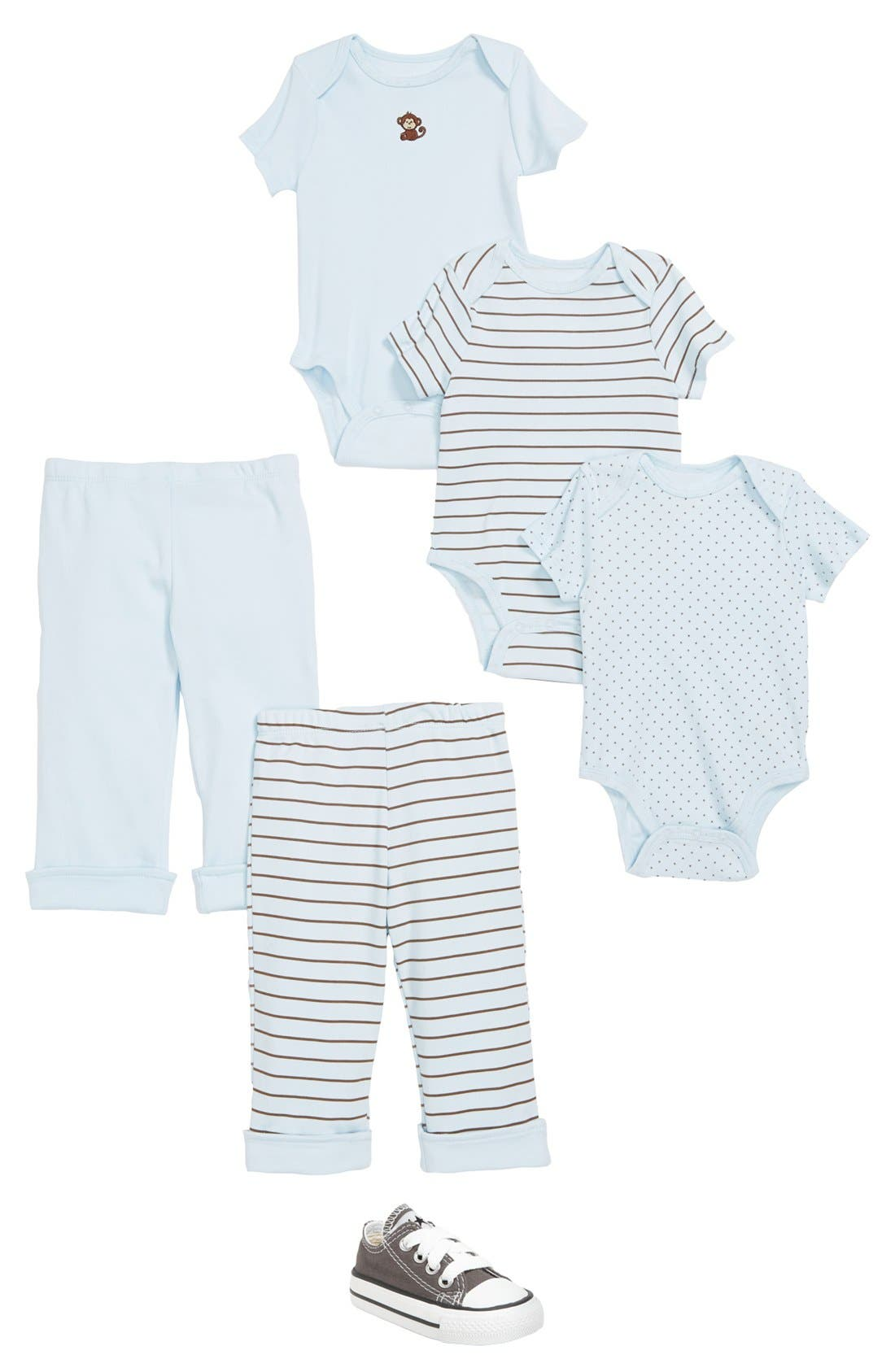 Alternate Image 2  - Little Me 'Monkey' Bodysuits (Set of 3) (Baby Boys)