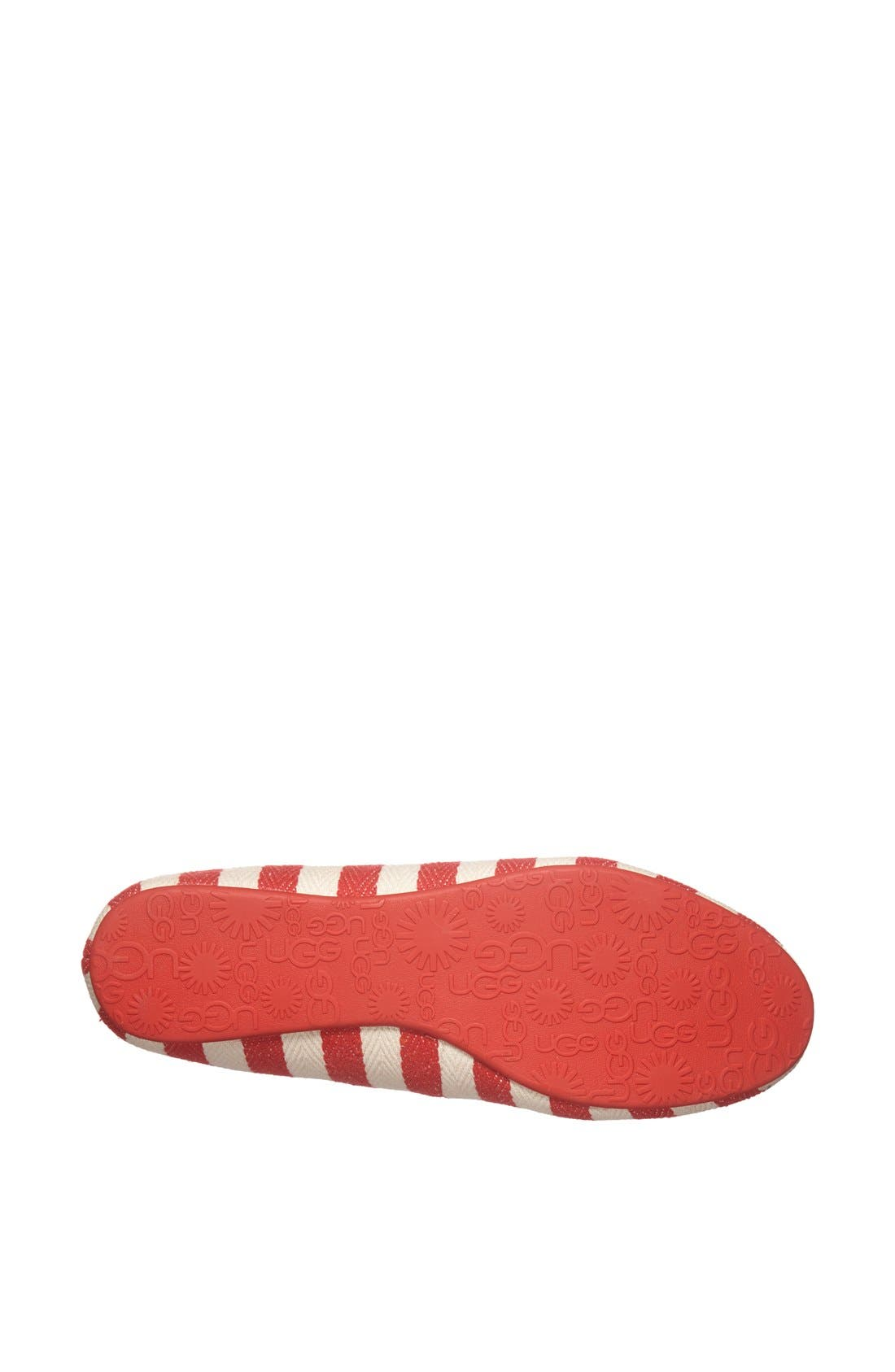 Alternate Image 4  - UGG® Australia 'Alloway Stripe' Flat (Women)