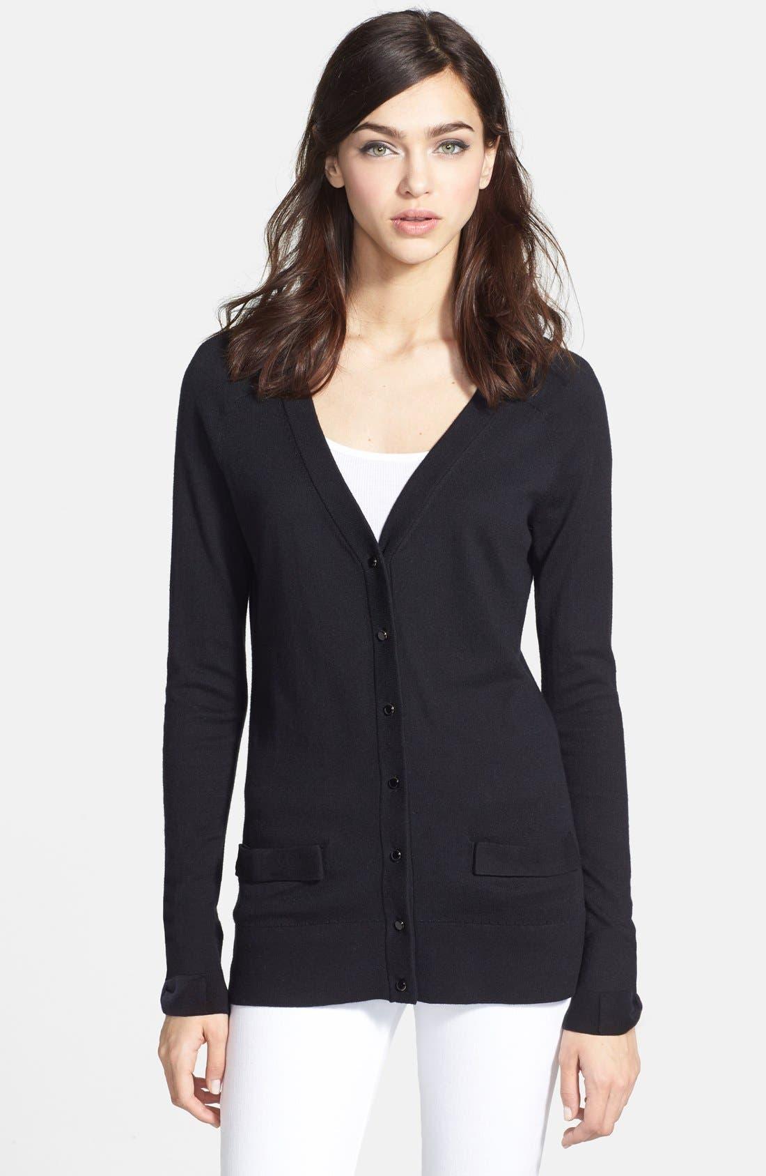 Main Image - kate spade new york 'cary' cotton blend cardigan