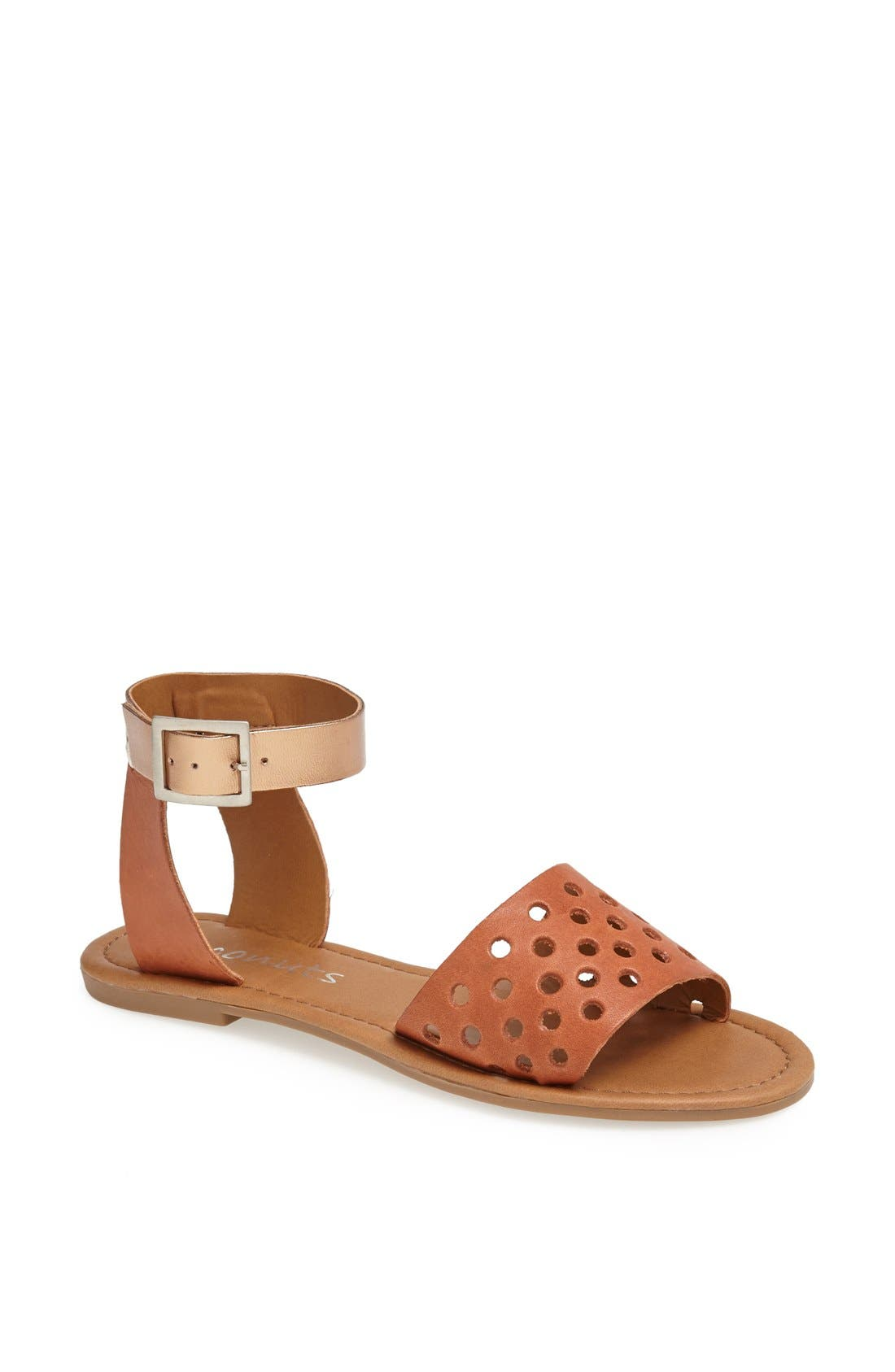 Alternate Image 1 Selected - Coconuts by Matisse 'All About' Perforated Leather Flat Sandal