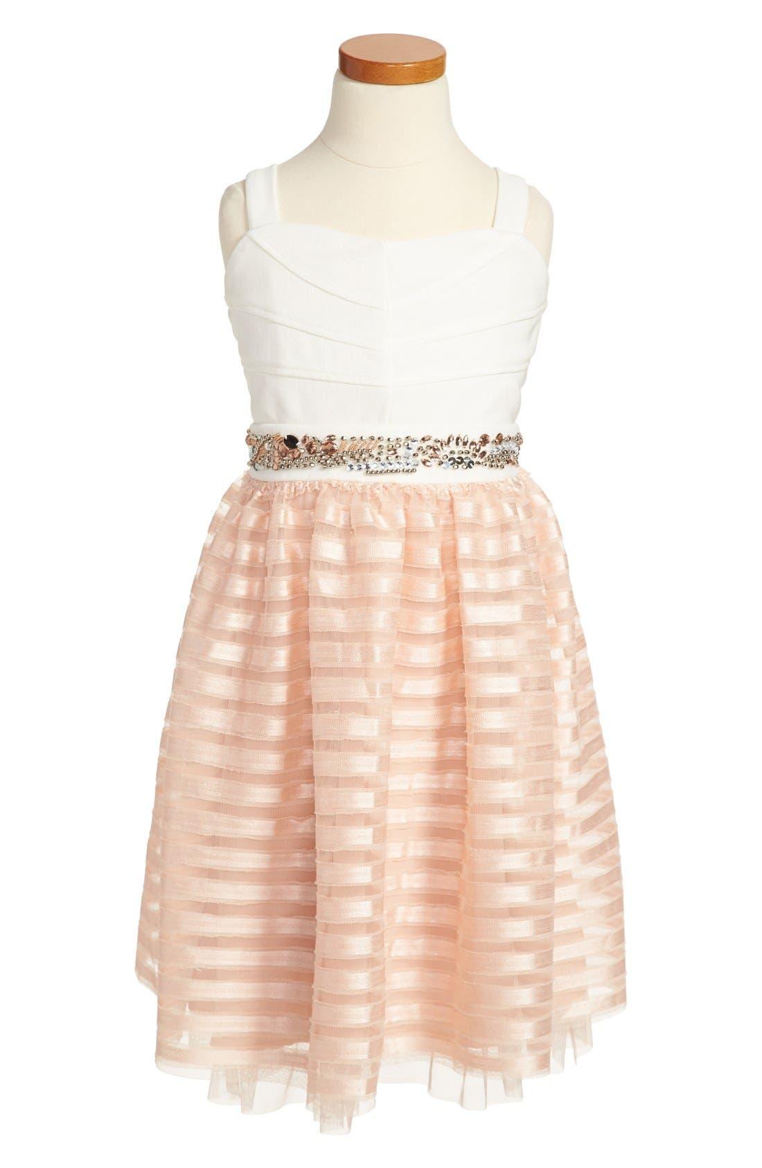 Main Image - Roxette Jeweled Waist Dress (Big Girls)